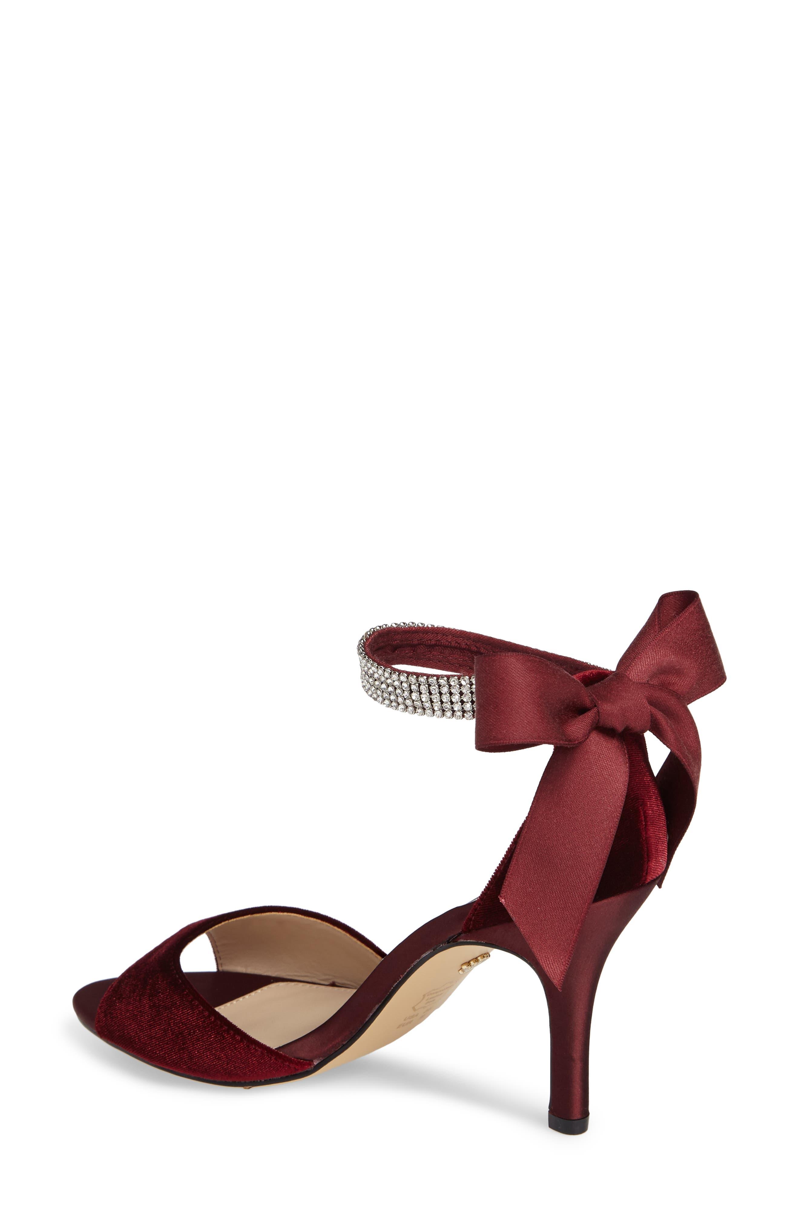 Alternate Image 2  - Nina 'Vinnie' Crystal Embellished Ankle Strap Sandal (Women)