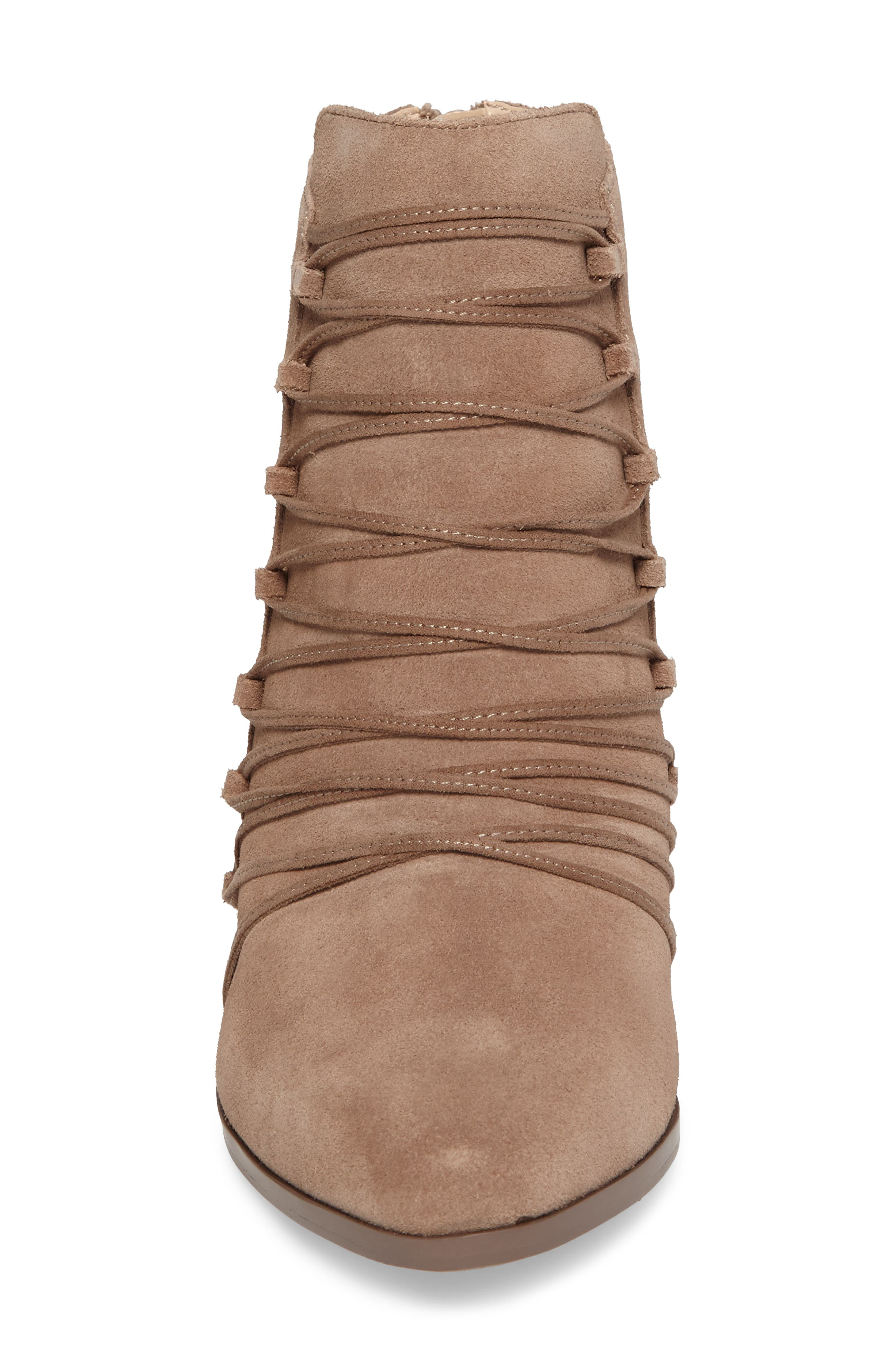 Bellevue Bootie,                             Alternate thumbnail 4, color,                             Night Taupe Suede