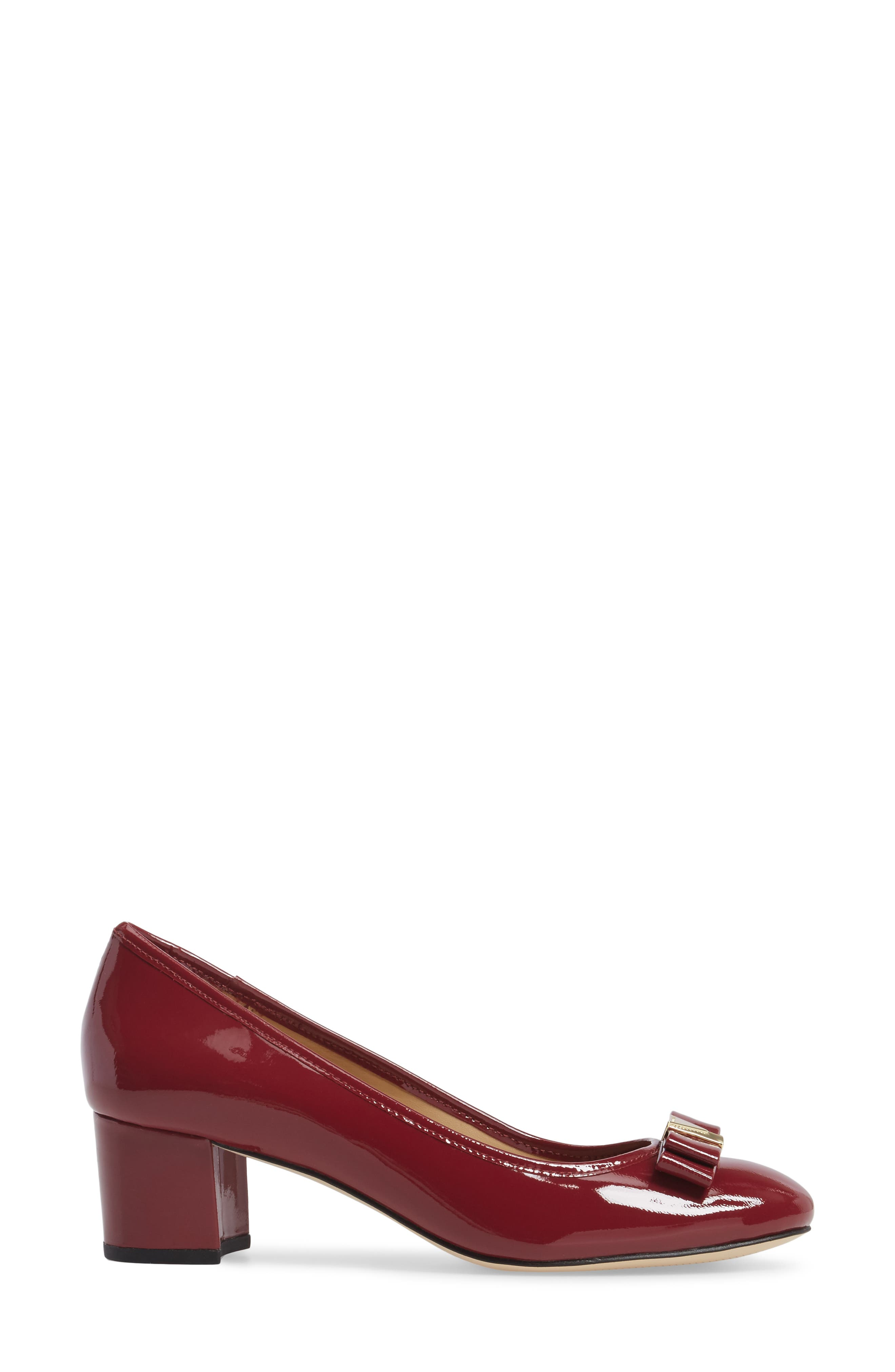 Caroline Pump,                             Alternate thumbnail 3, color,                             Mulberry Patent Leather