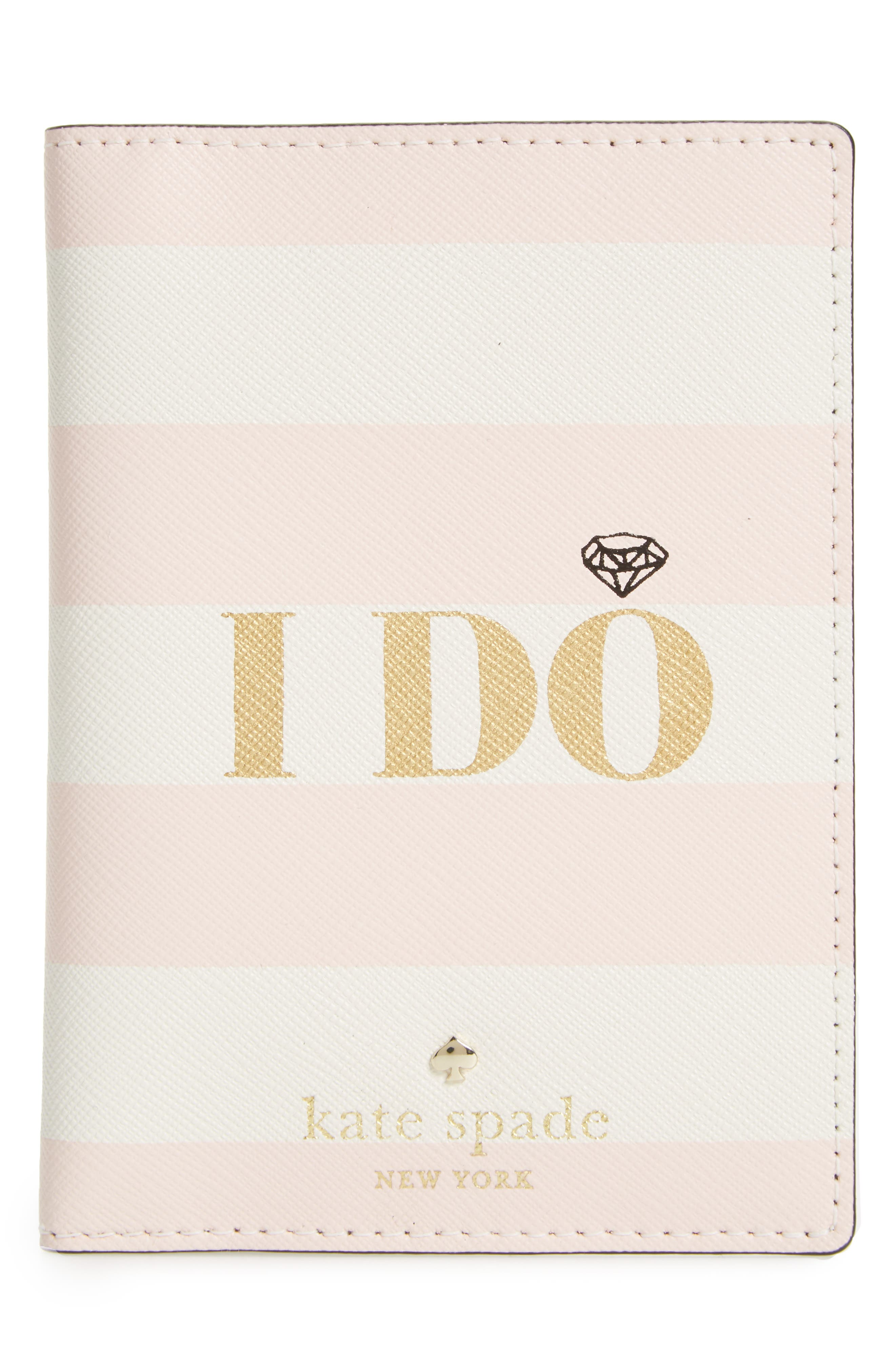 Alternate Image 1 Selected - kate spade new york wedding belles - i do/i did leather passport holder