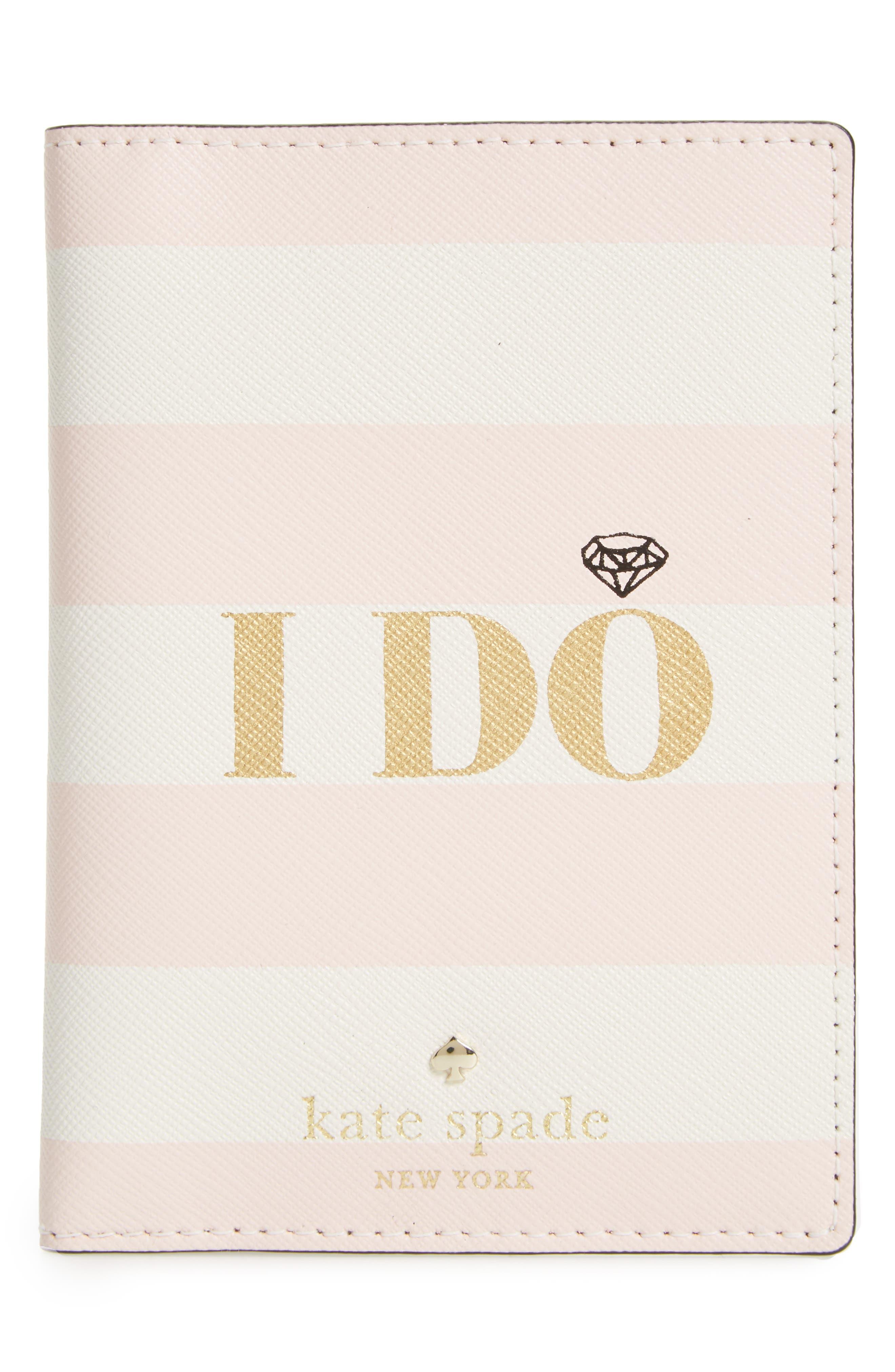 kate spade new york wedding belles - i do/i did leather passport holder