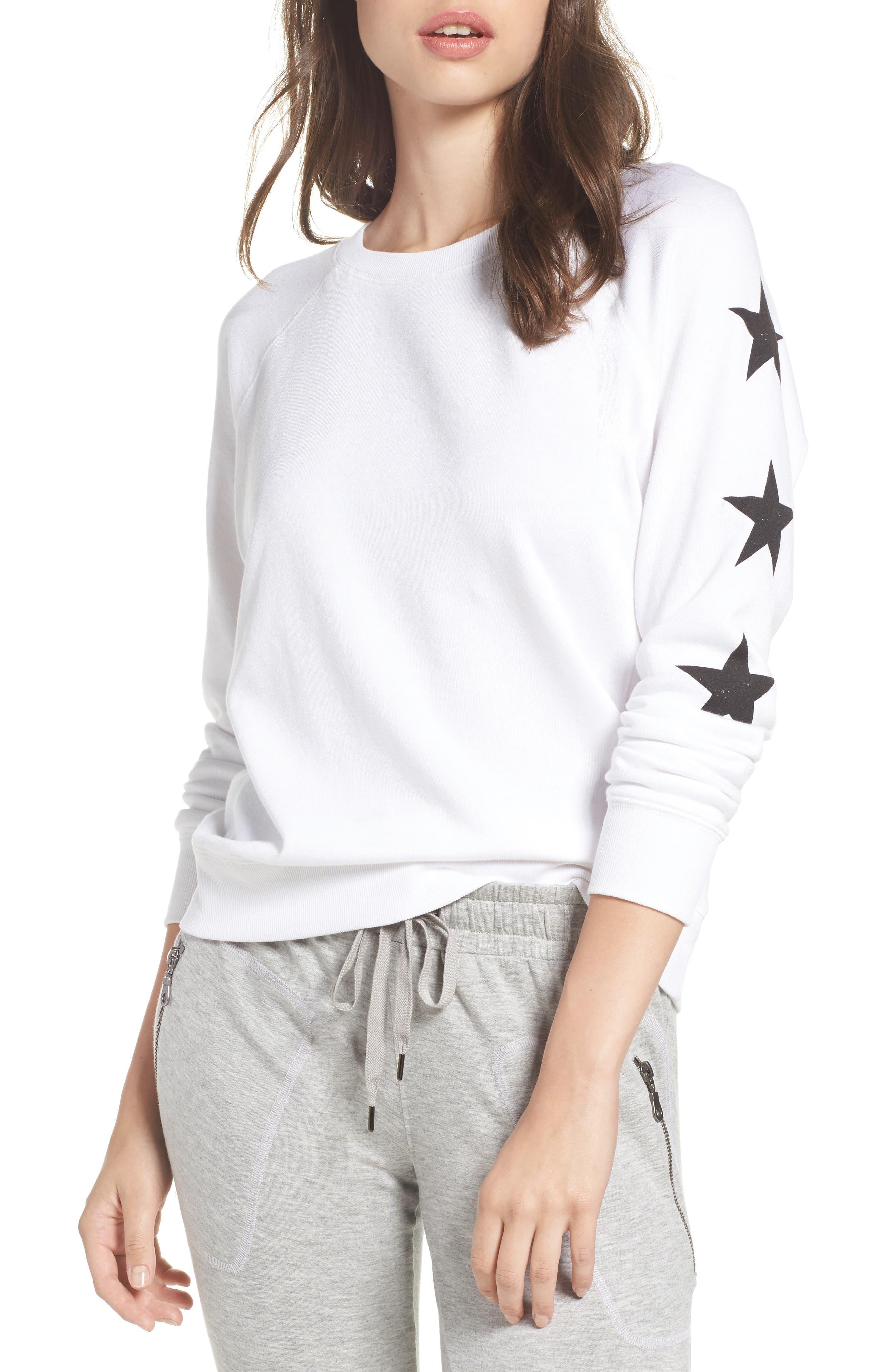 Star Raglan Pullover,                         Main,                         color, Ivory