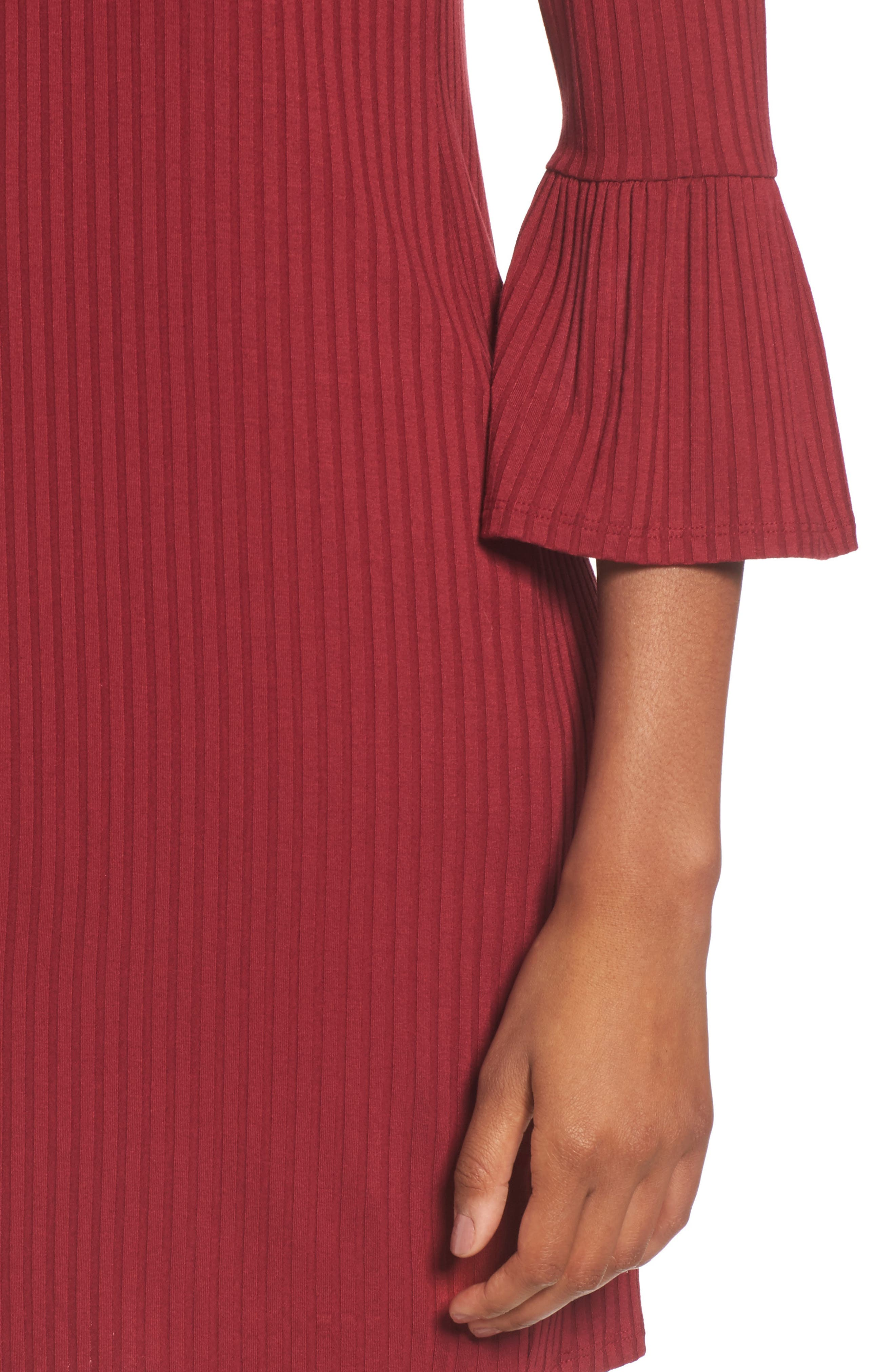Alternate Image 4  - One Clothing Off the Shoulder Rib Knit Dress