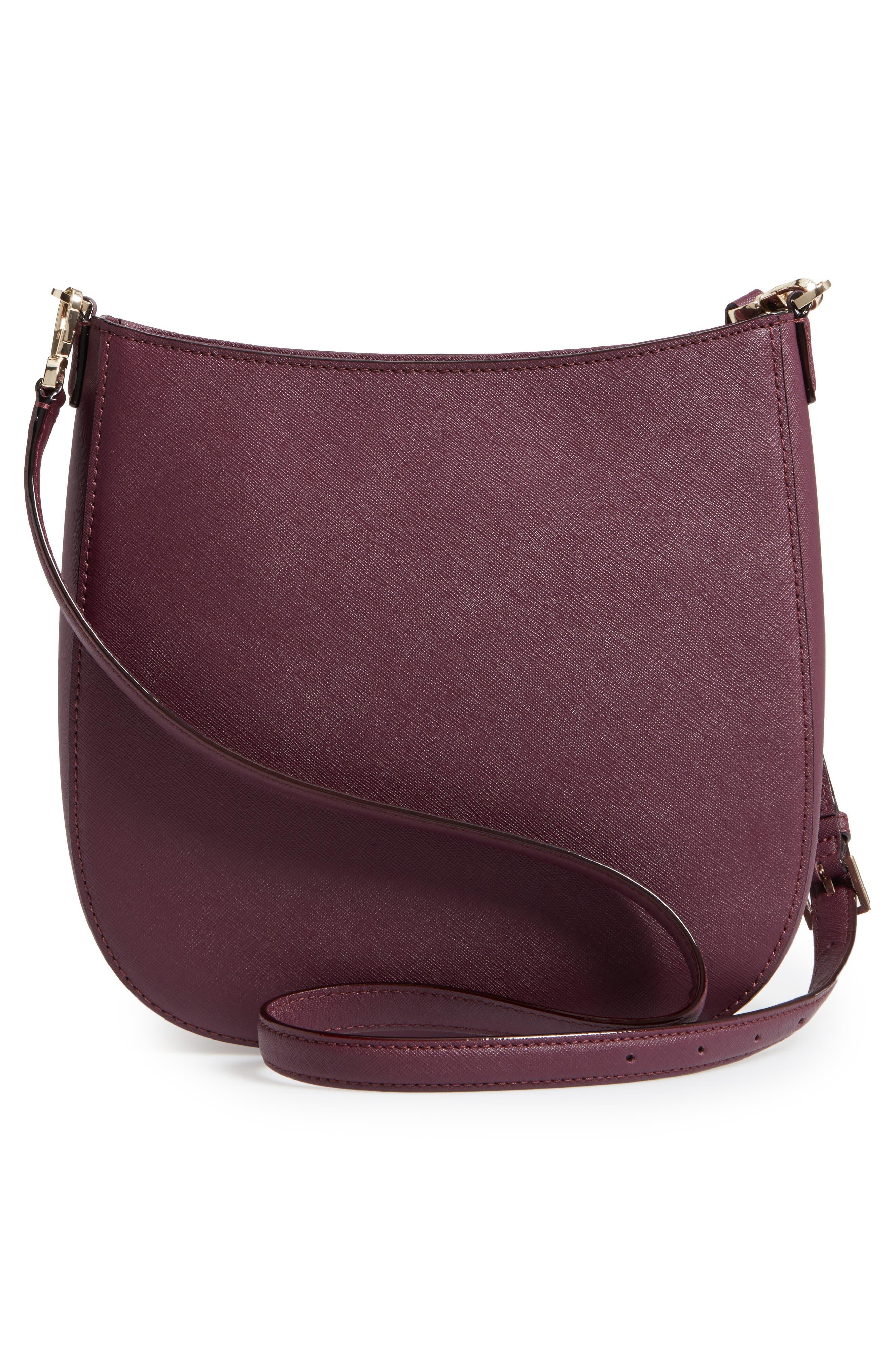 cameron street - robin leather crossbody bag,                             Alternate thumbnail 2, color,                             Deep Plum
