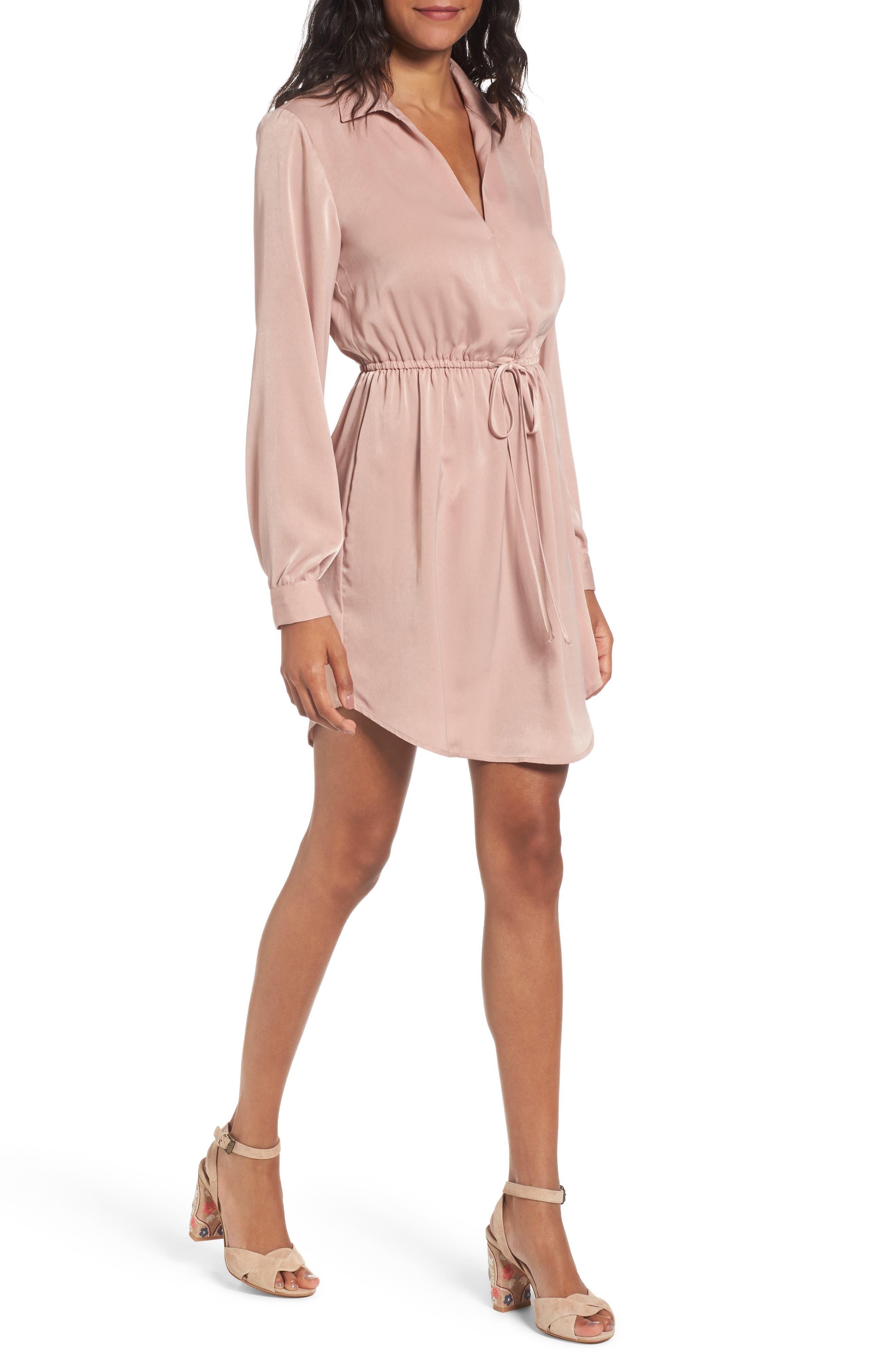 Lush Payton Cinched Waist Dress