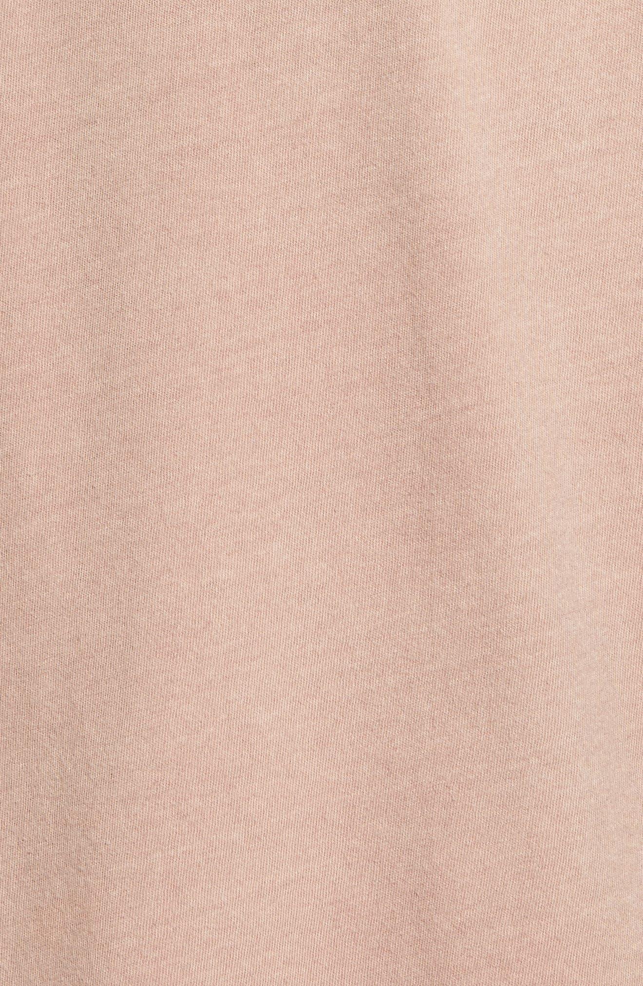 Mineral Wash T-Shirt,                             Alternate thumbnail 5, color,                             Pink Adobe