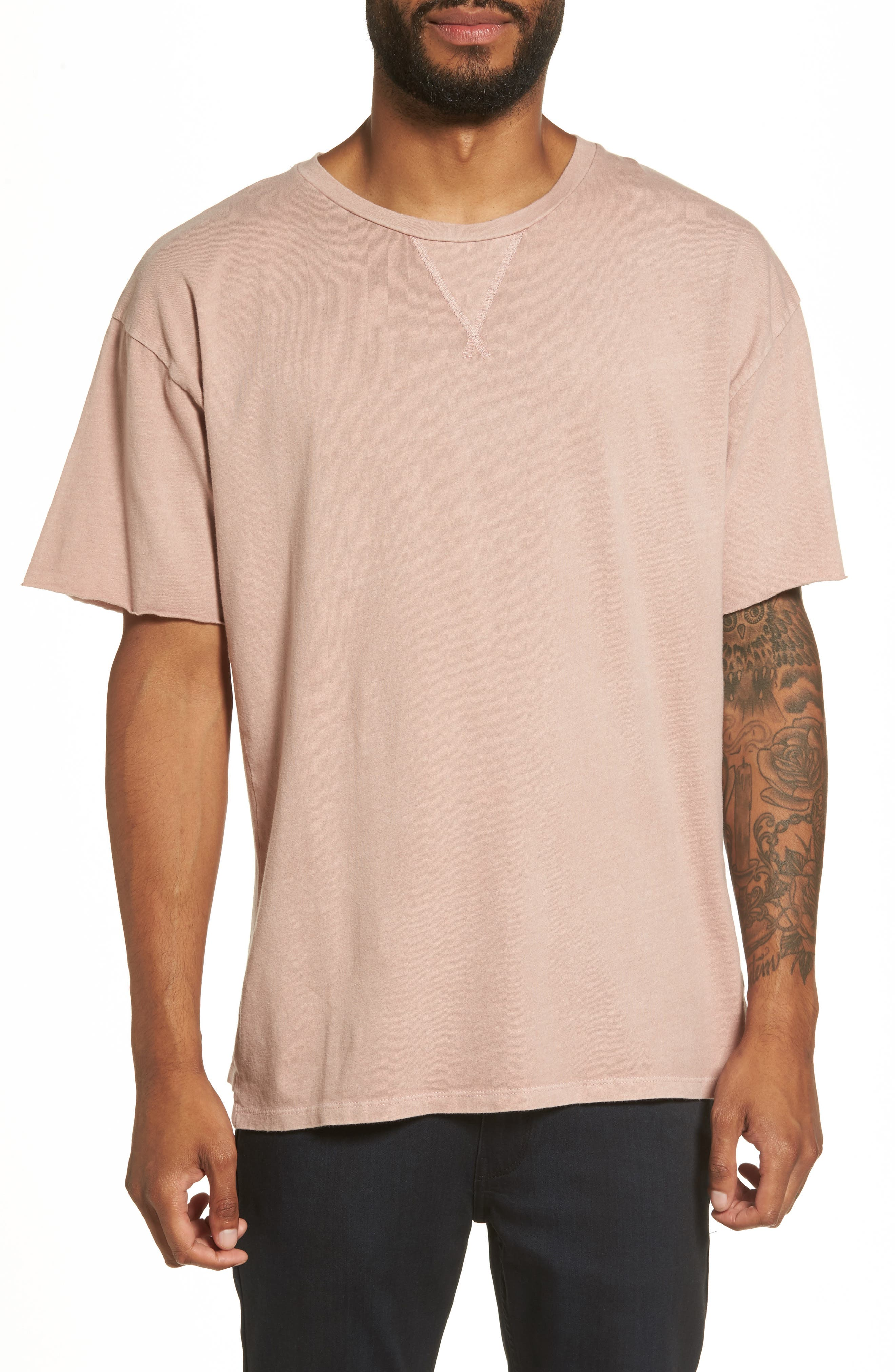 Mineral Wash T-Shirt,                             Main thumbnail 1, color,                             Pink Adobe