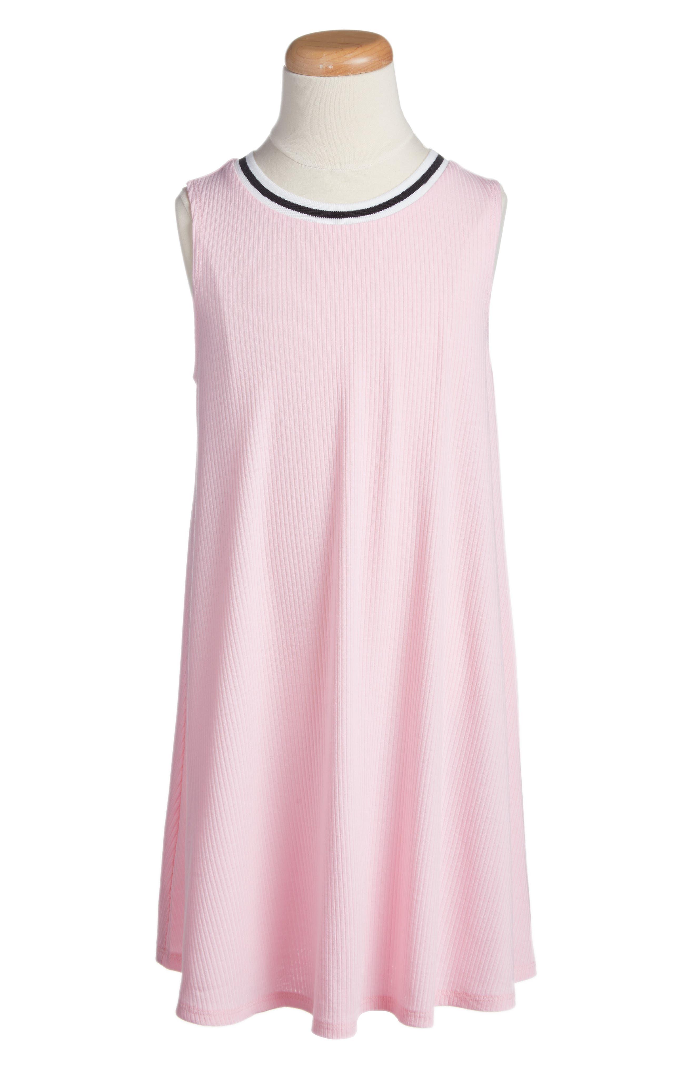Ringer Tank Dress,                         Main,                         color, Cameo Pink