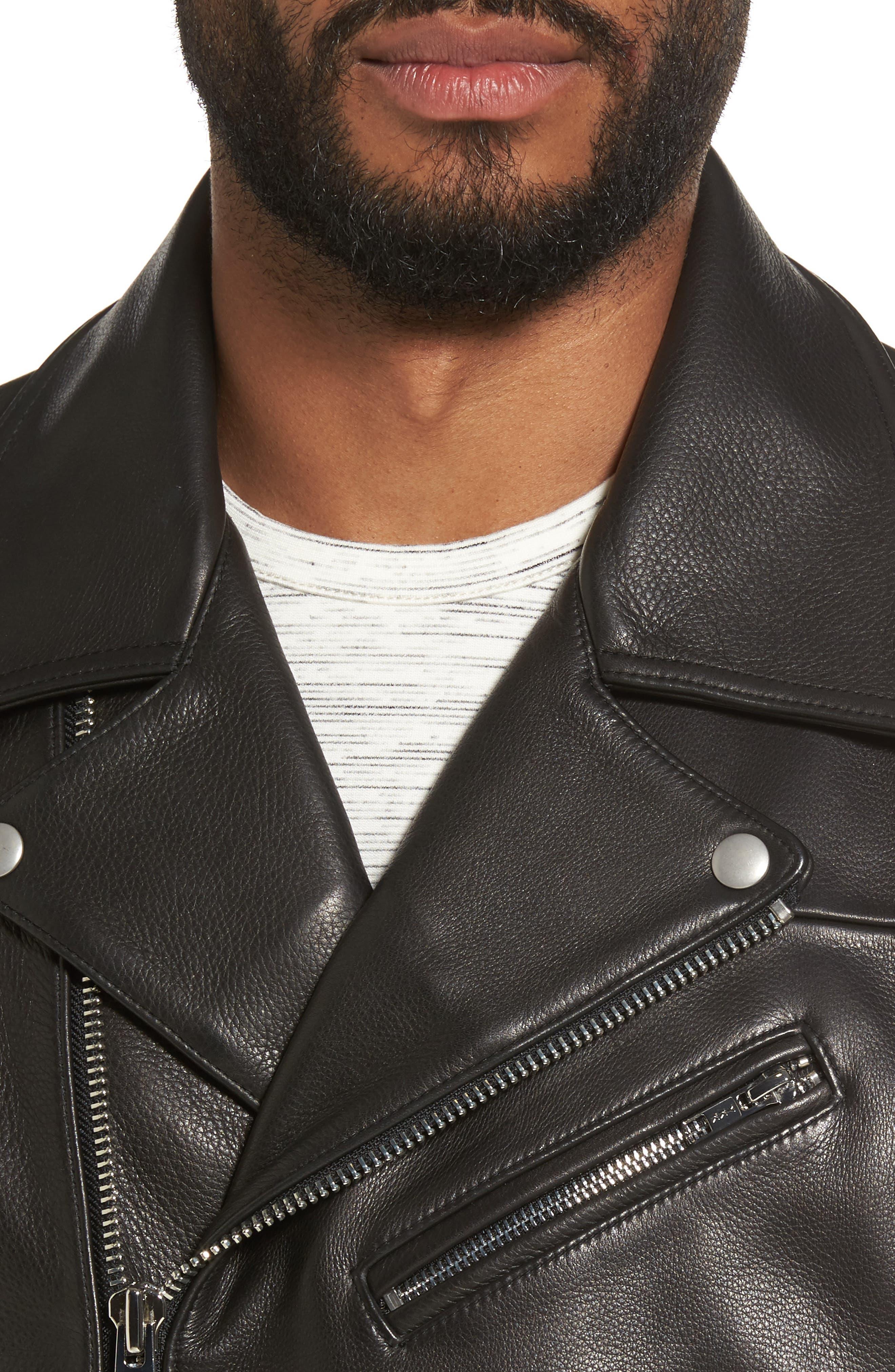 Alternate Image 4  - Calibrate Leather Moto Jacket