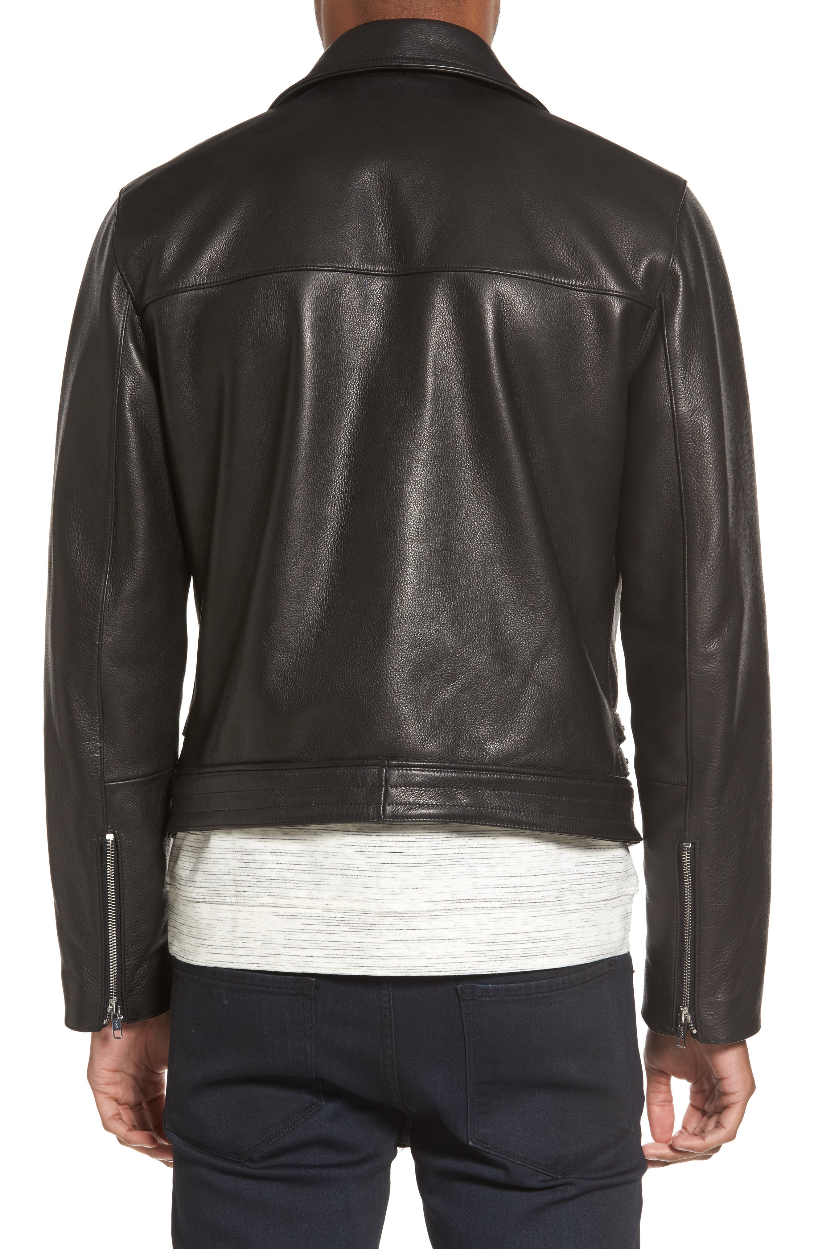 Alternate Image 2  - Calibrate Leather Moto Jacket