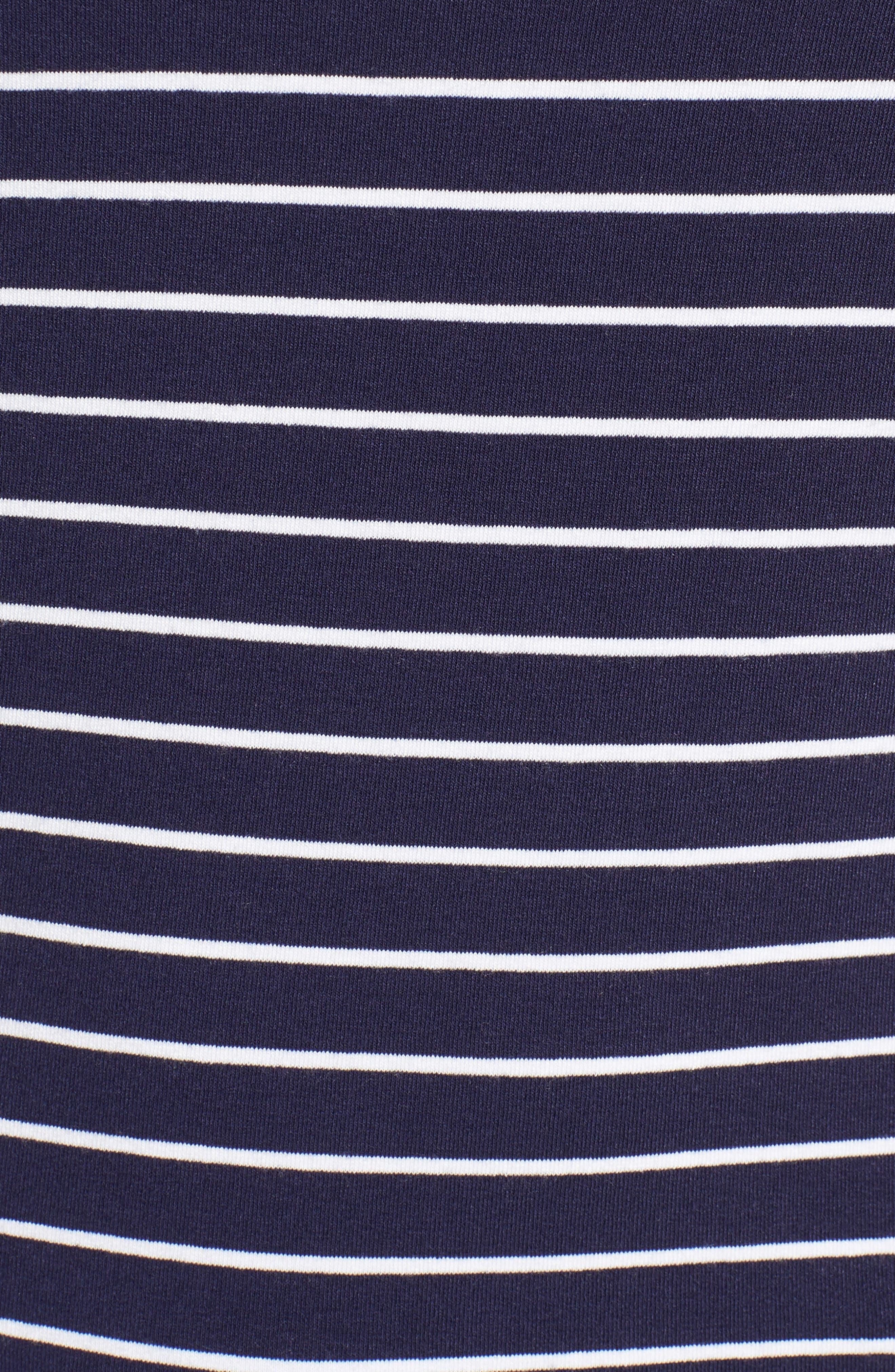 Alternate Image 5  - Nordstrom Signature Long Sleeve Stripe Pocket Tee
