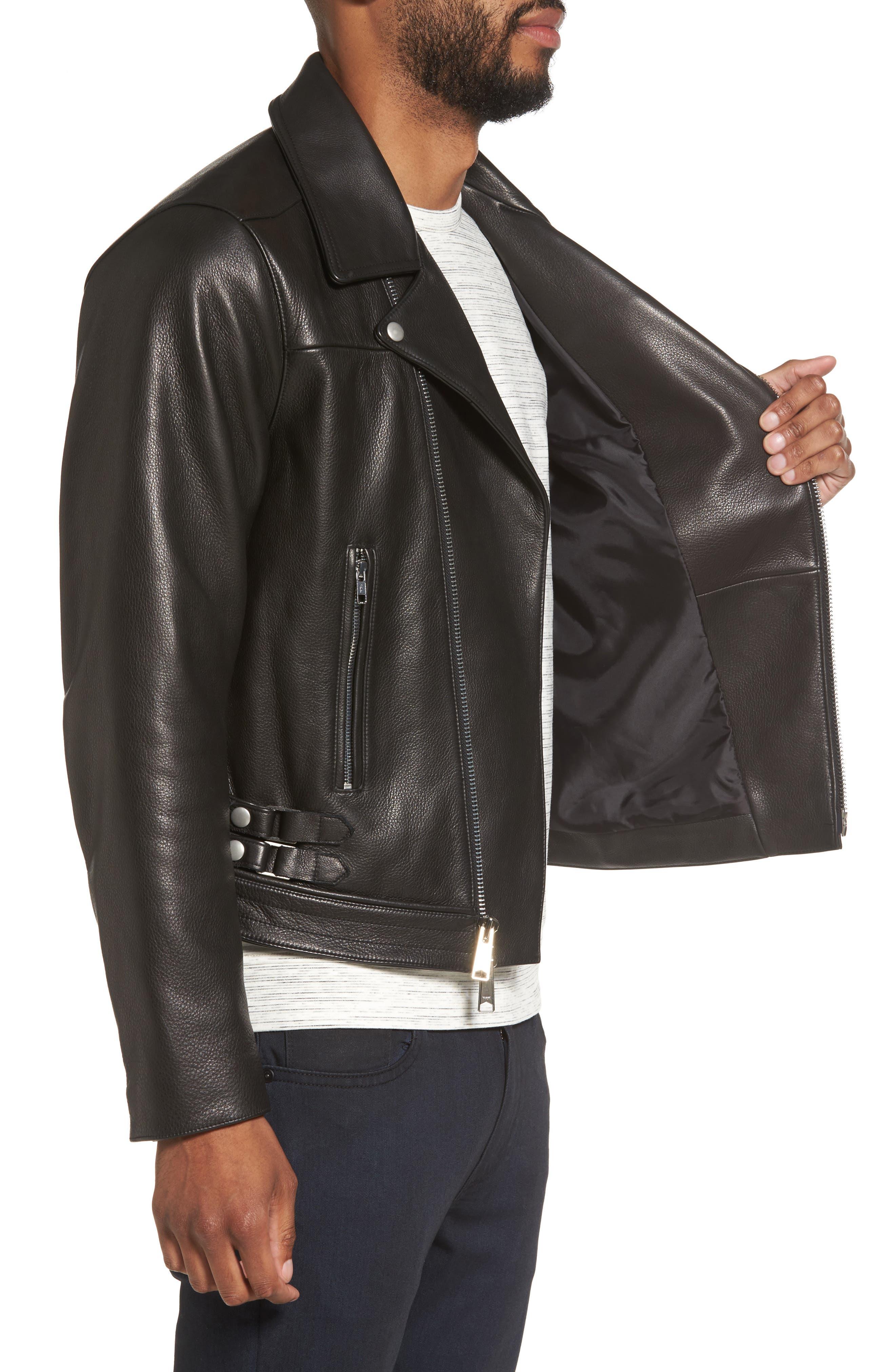 Alternate Image 3  - Calibrate Leather Moto Jacket