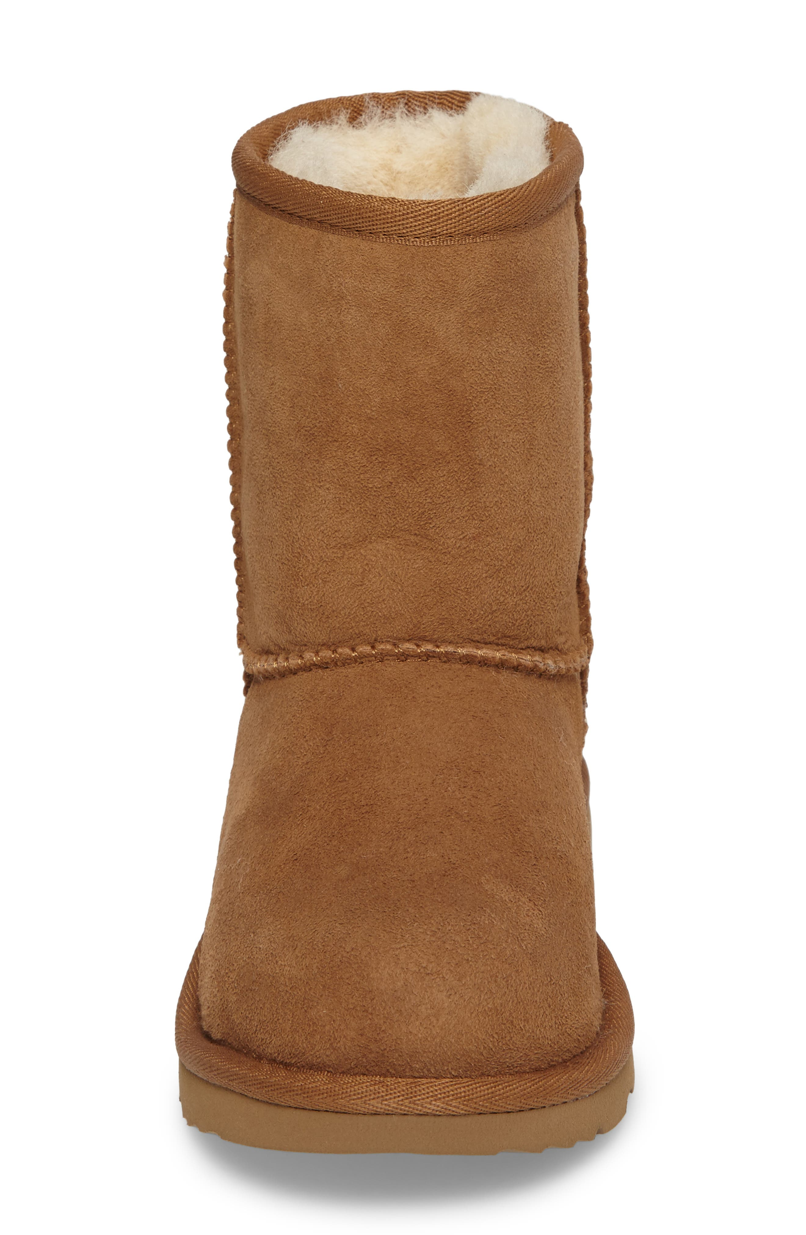 Classic II Water Resistant Genuine Shearling Boot,                             Alternate thumbnail 4, color,                             Chestnut Brown