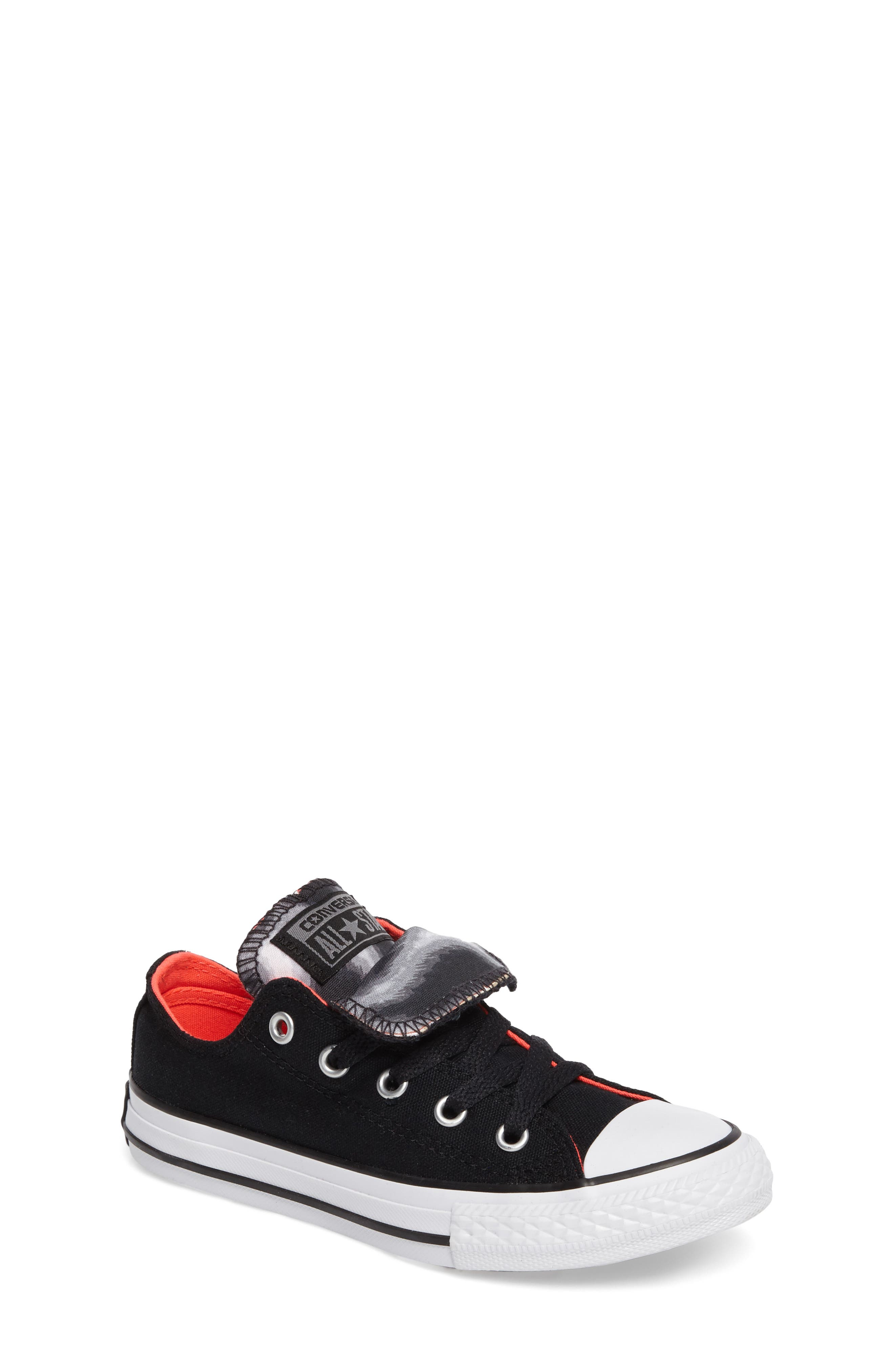 Alternate Image 1 Selected - Converse All Star® Double Tongue Sneaker (Toddler, Little Kid, Big Kid)