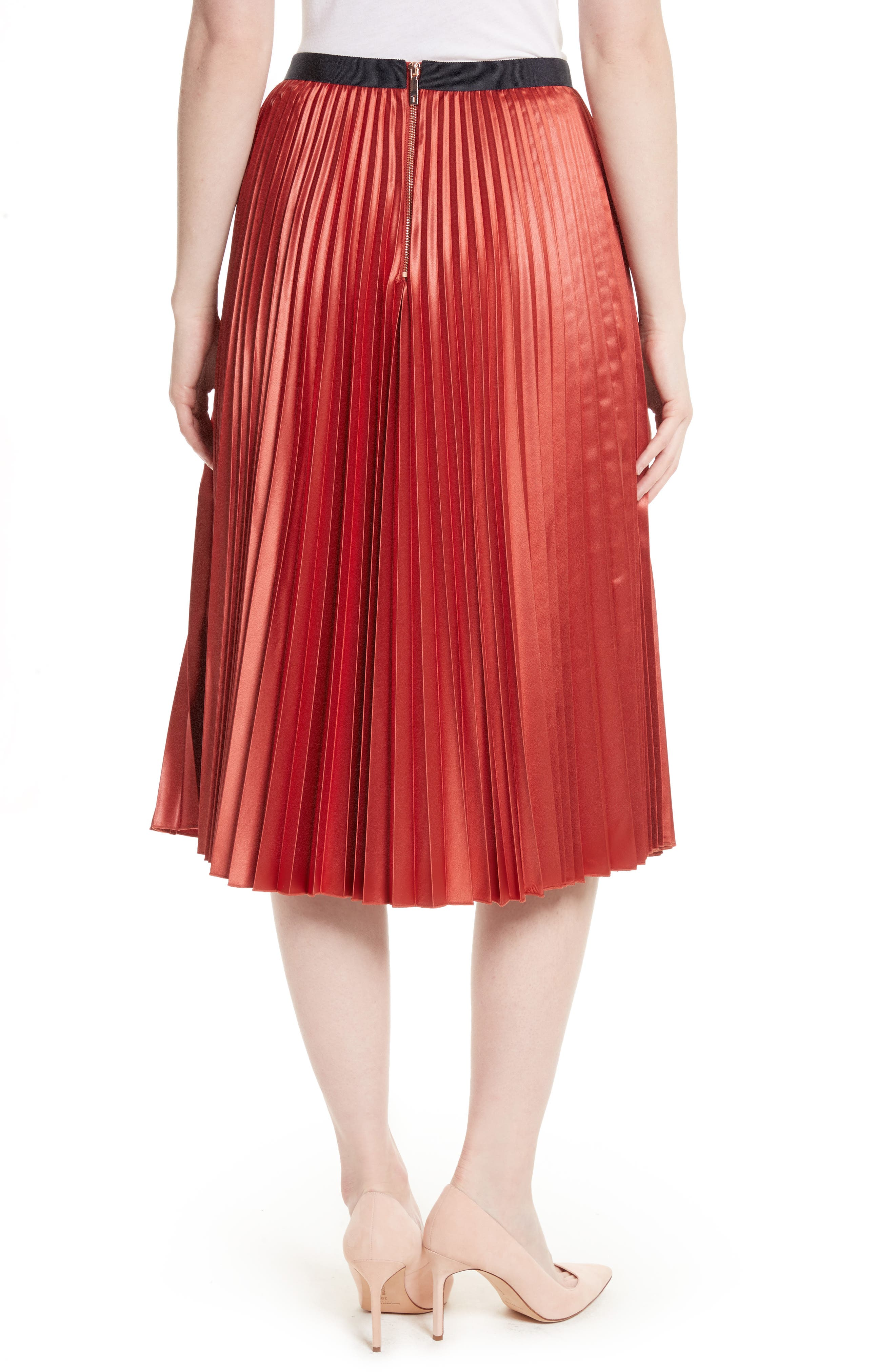 Alternate Image 2  - Ted Baker London Osla Colorblock Pleated Midi Skirt