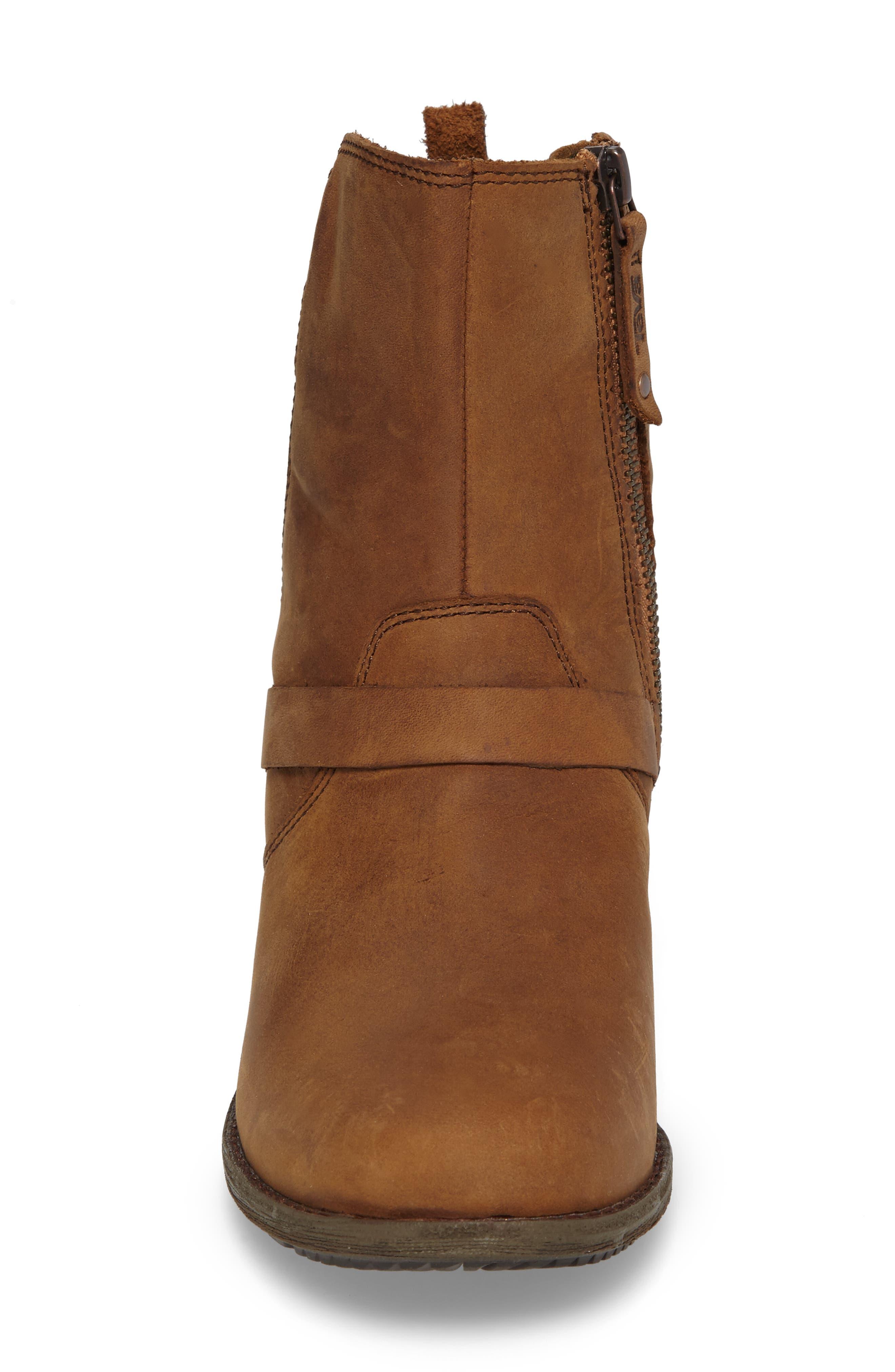 Dina La Vina Dos Waterproof Boot,                             Alternate thumbnail 4, color,                             Bison Leather