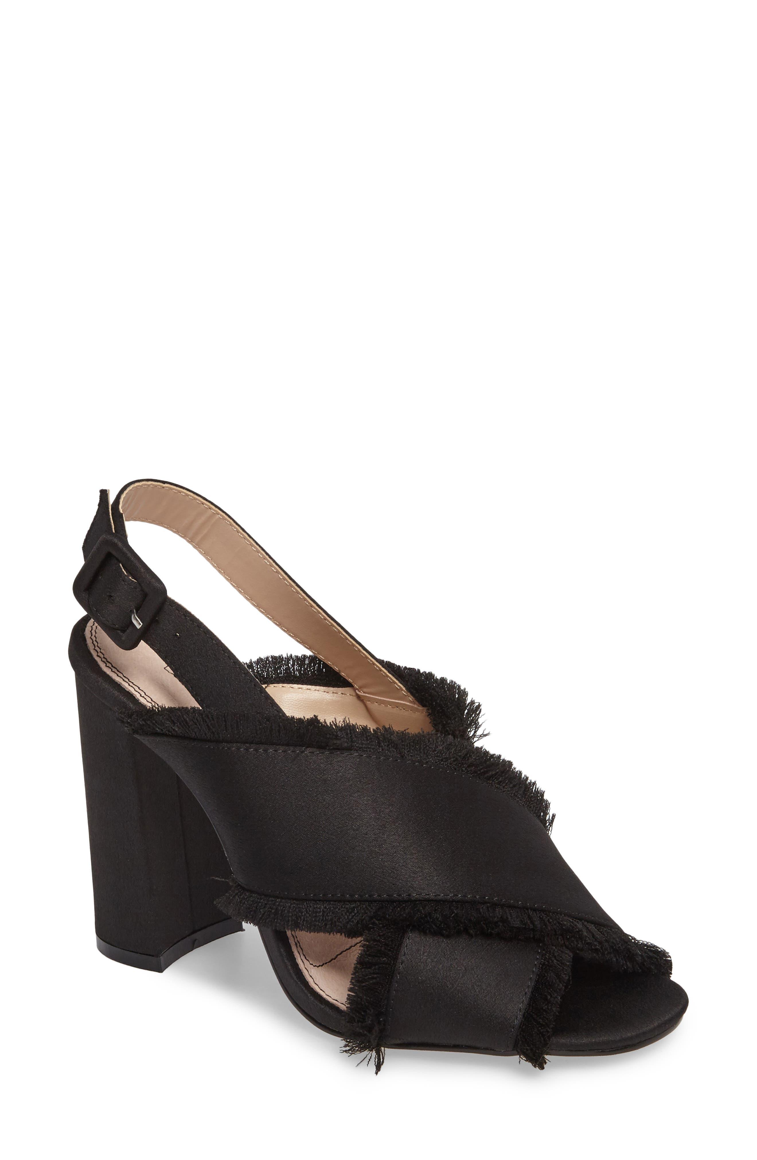 Reef Fringe Sandal,                         Main,                         color, Black
