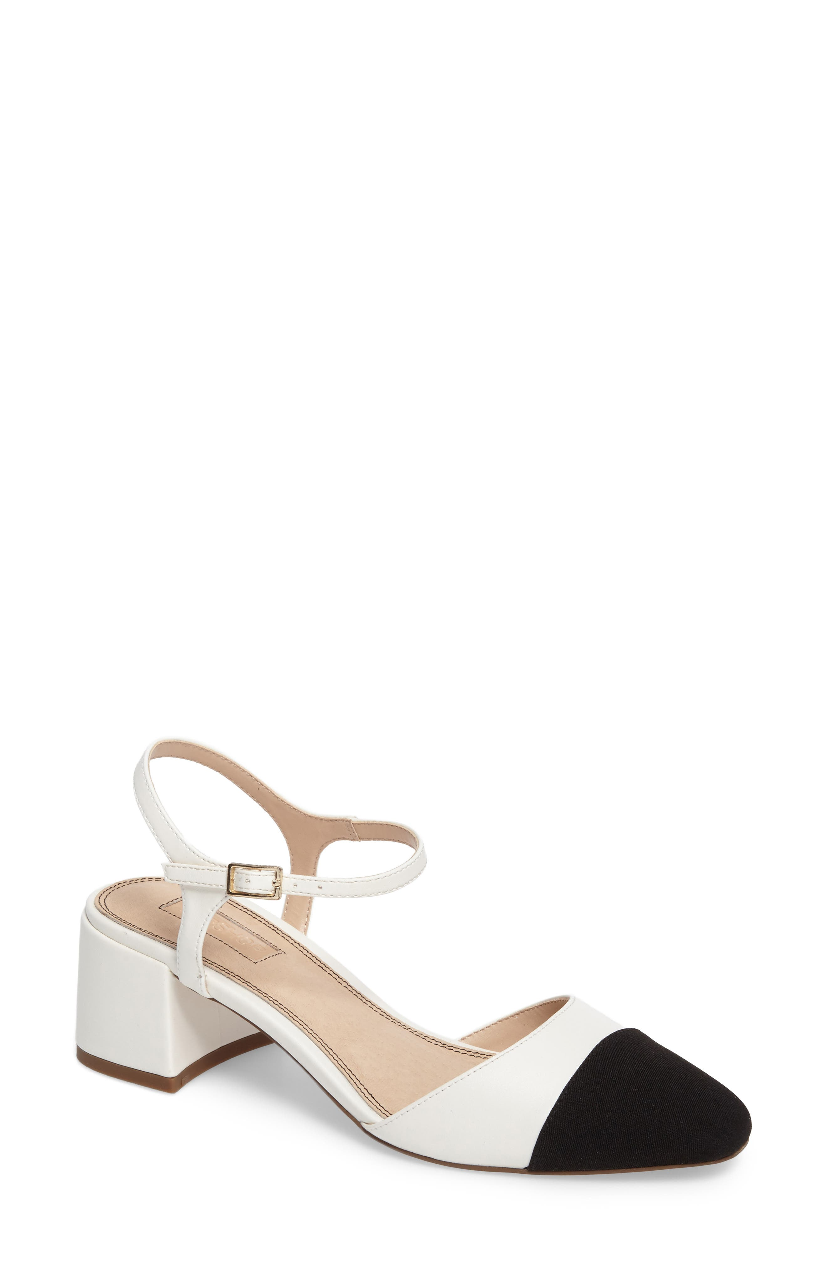 Topshop Jolene Cap Toe Pump (Women)
