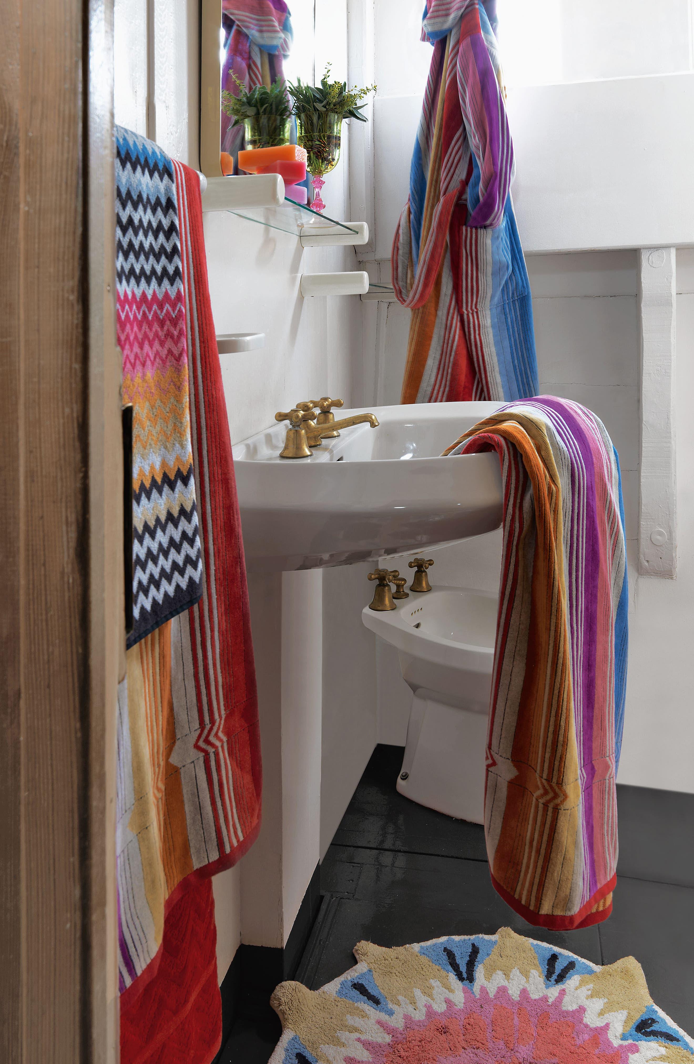 Missoni Stan Bath Towel,                             Alternate thumbnail 2, color,                             Multi Pink