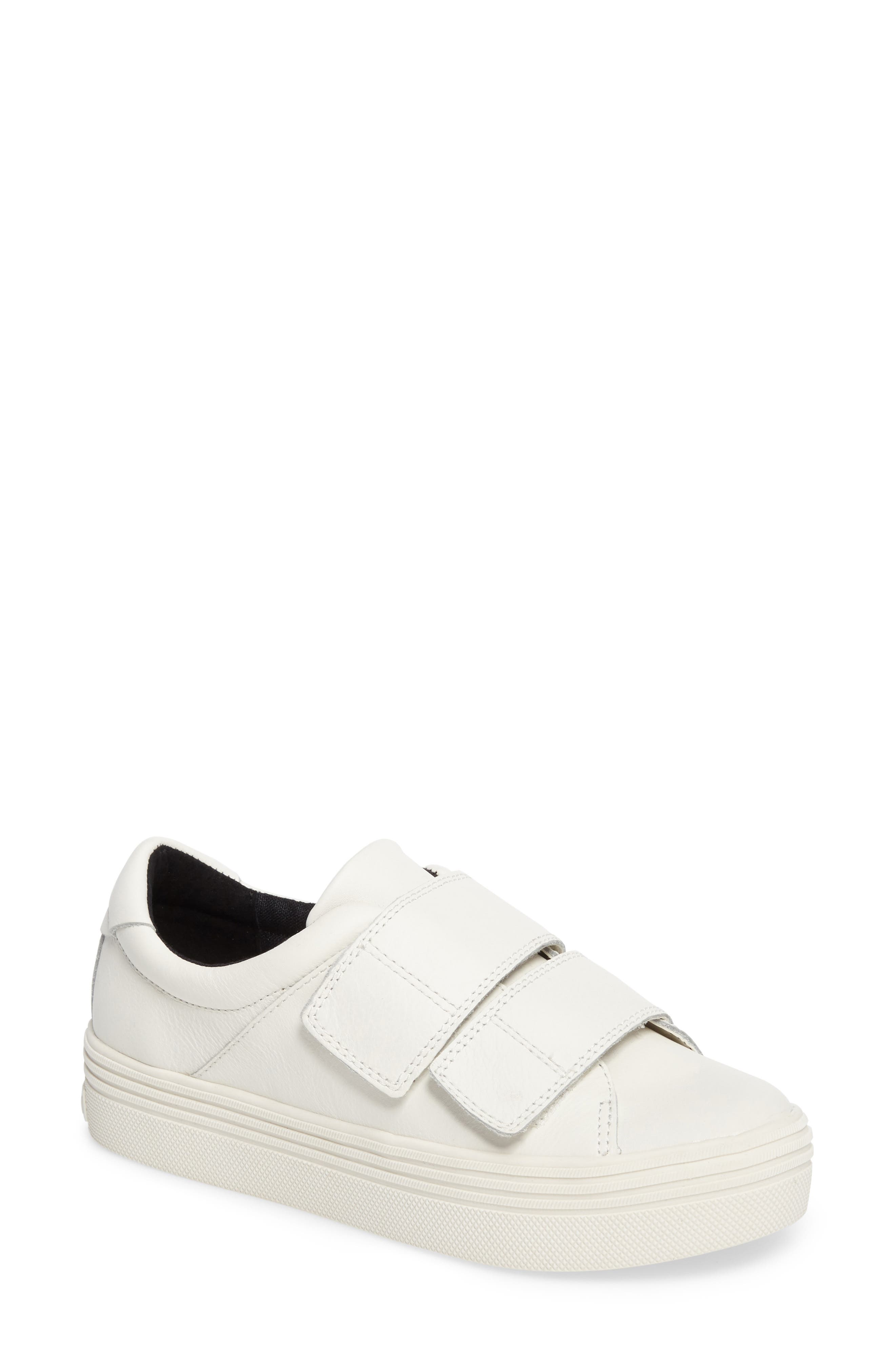 Tina Platform Sneaker,                         Main,                         color, White Leather