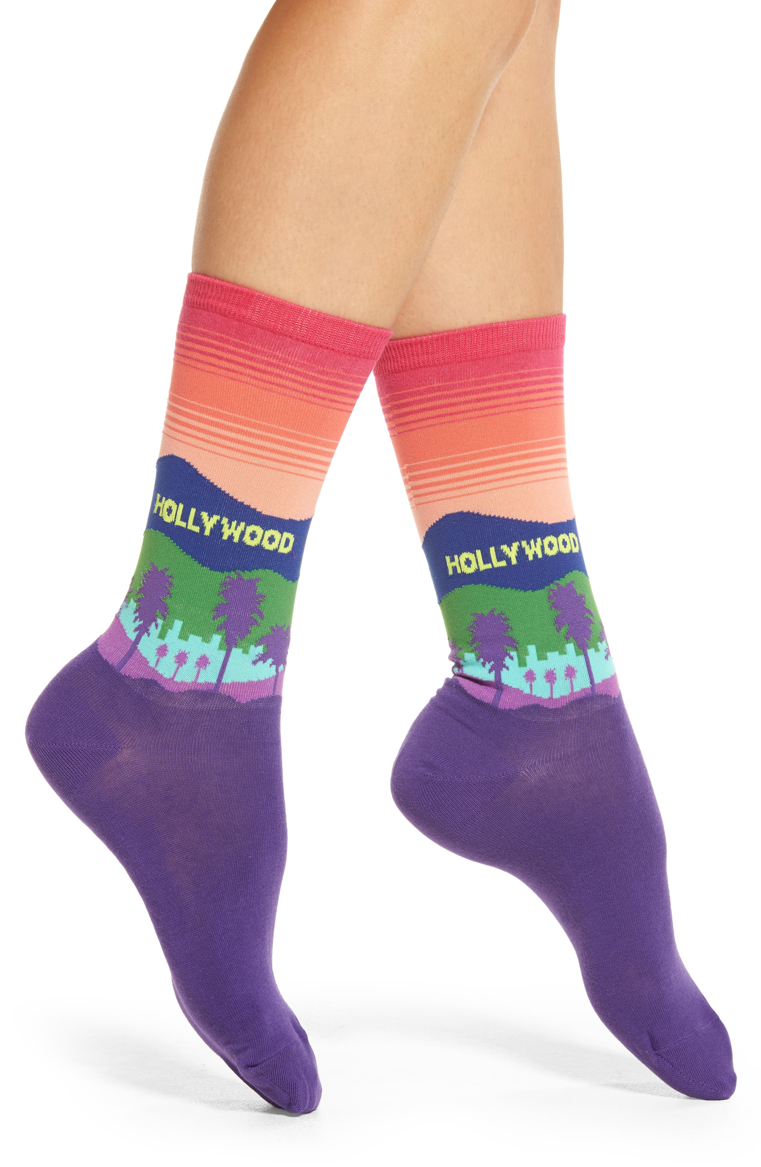 Alternate Image 1 Selected - Hot Sox Hollywood Crew Socks (3 or $15)