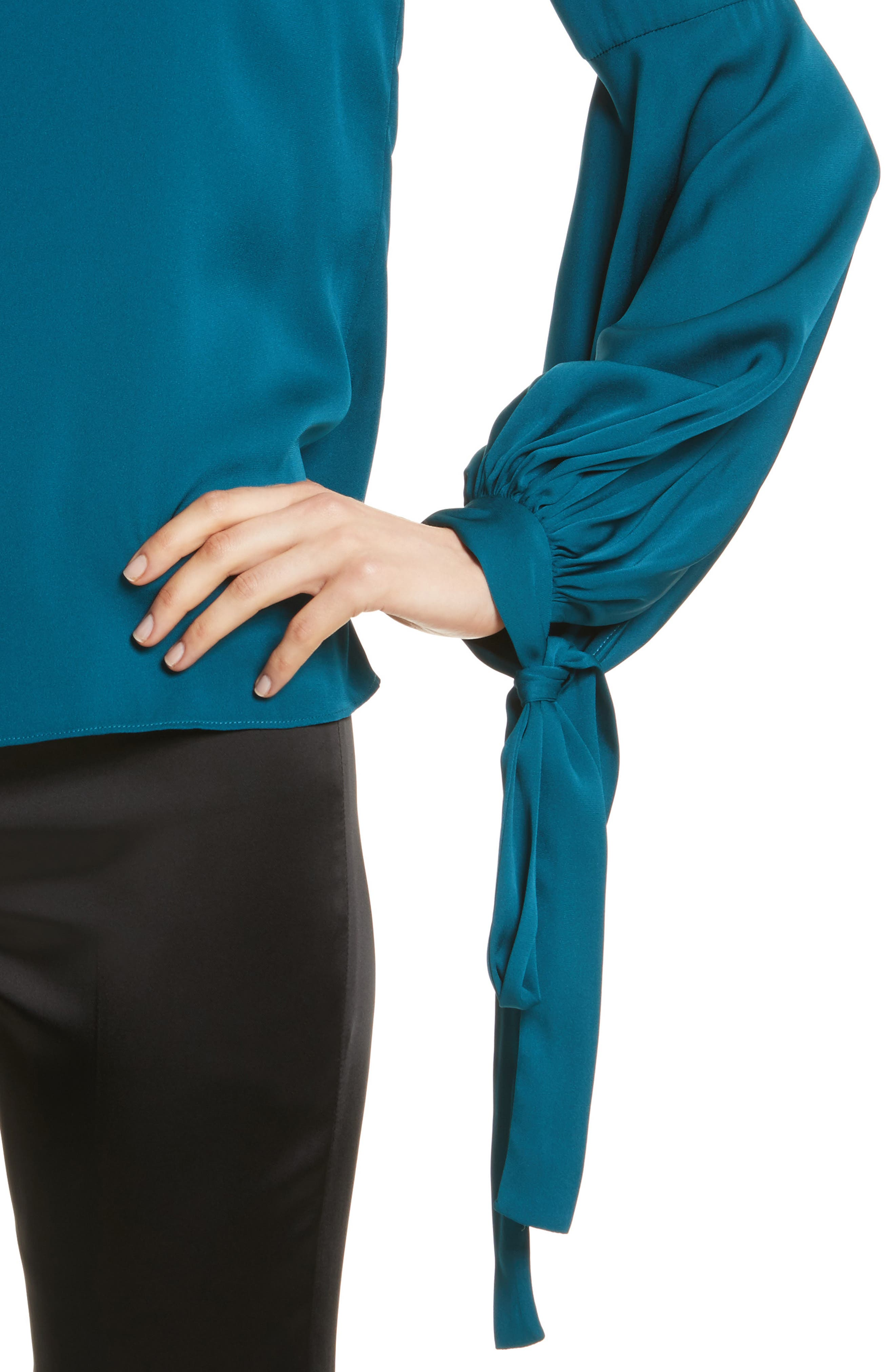 Alternate Image 4  - Milly Juliette Stretch Silk Blouse