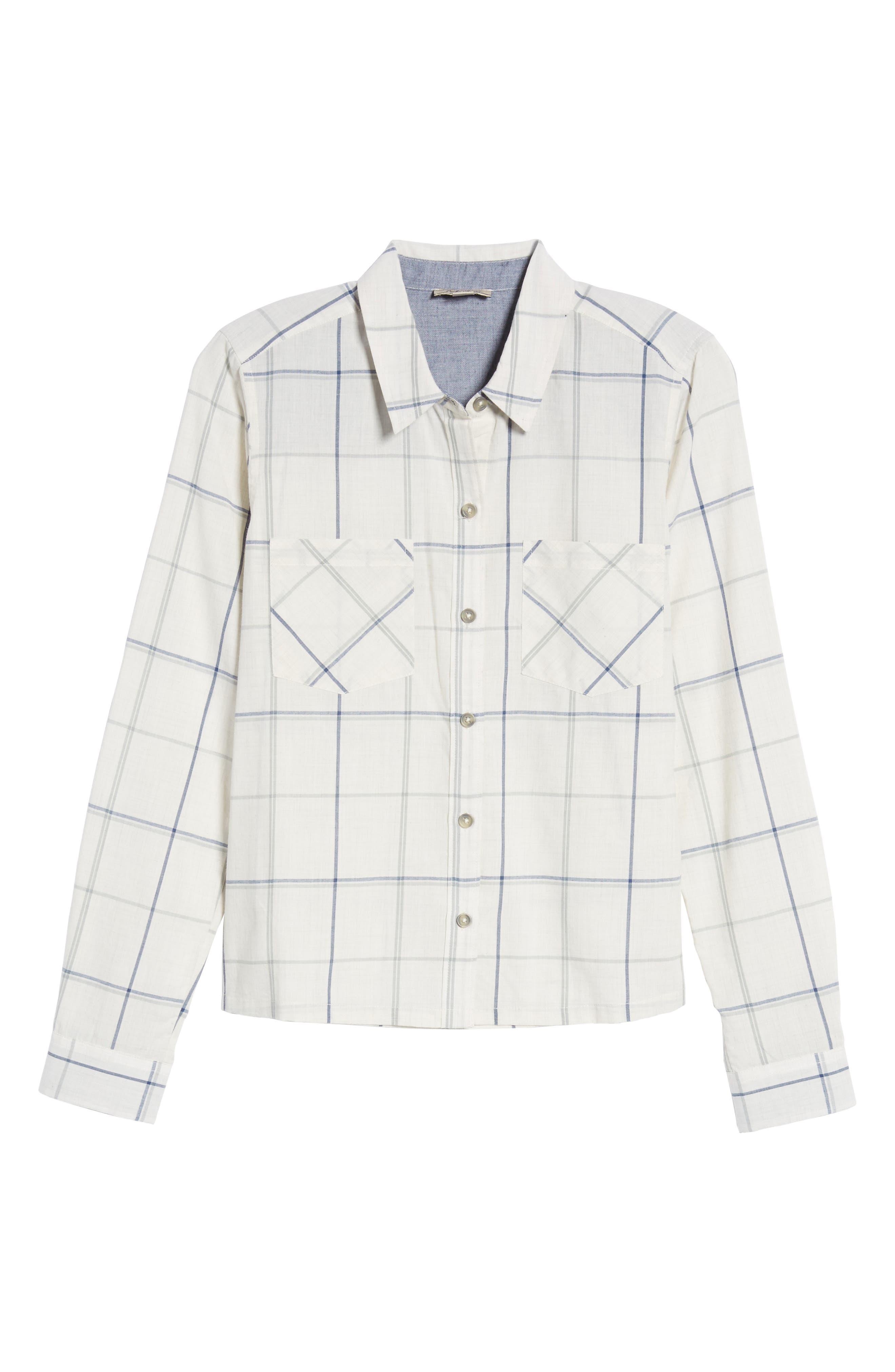 Plaid Shirt,                             Alternate thumbnail 6, color,                             Natural Multi