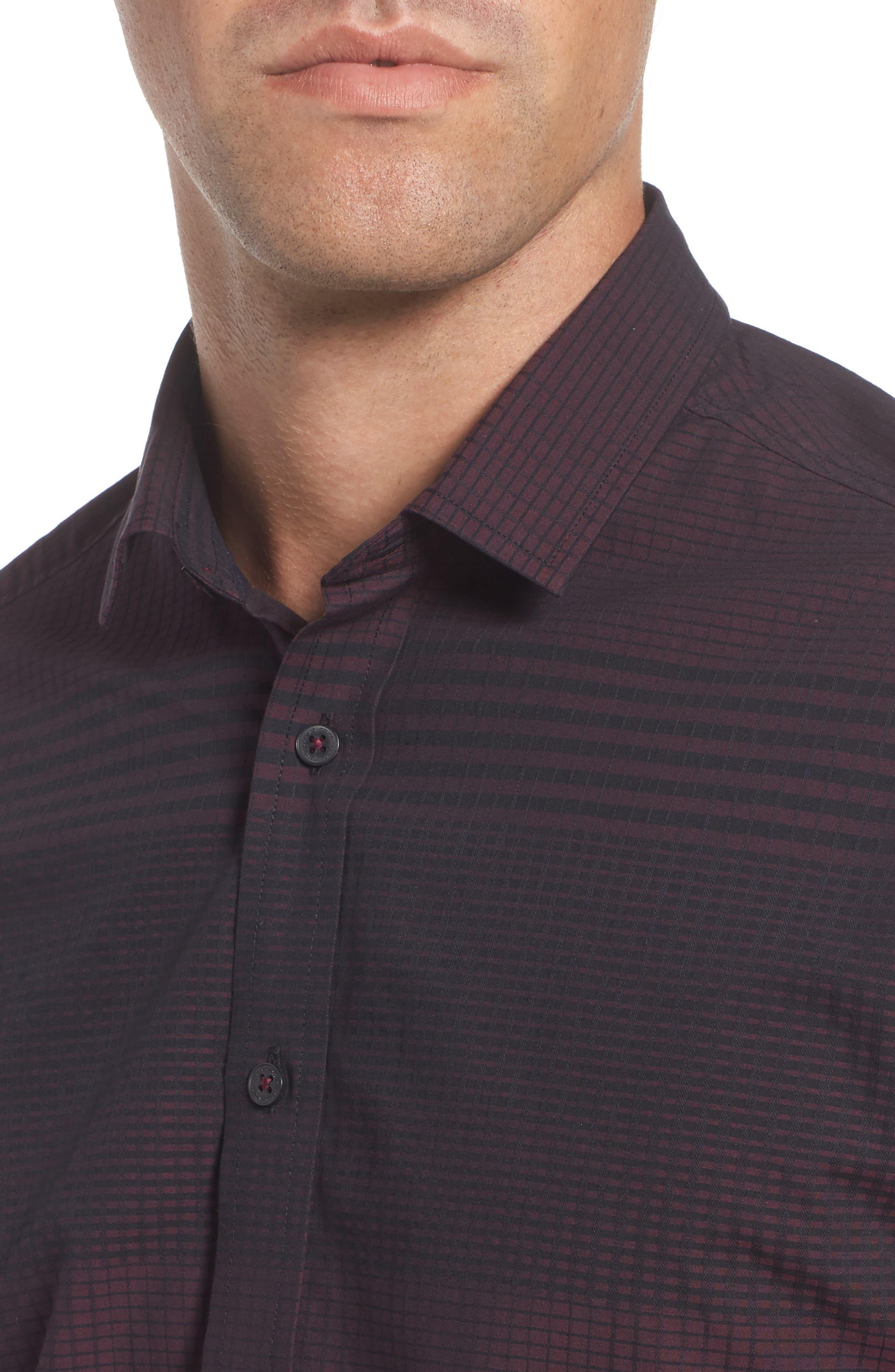 Alternate Image 4  - Vince Camuto Slim Fit Check Plaid Sport Shirt