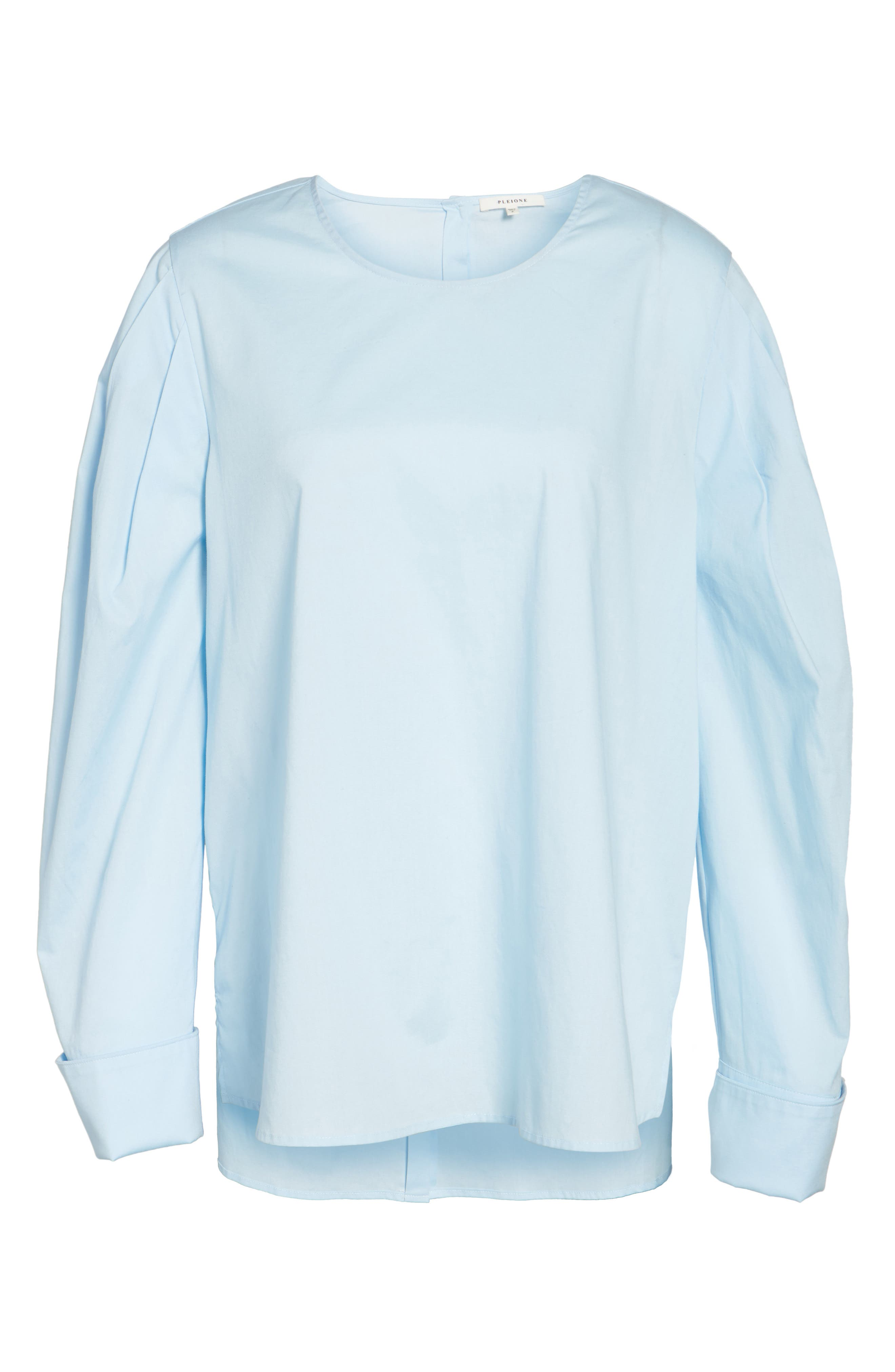 Alternate Image 8  - Pleione Bishop Sleeve Blouse (Regular & Petite)