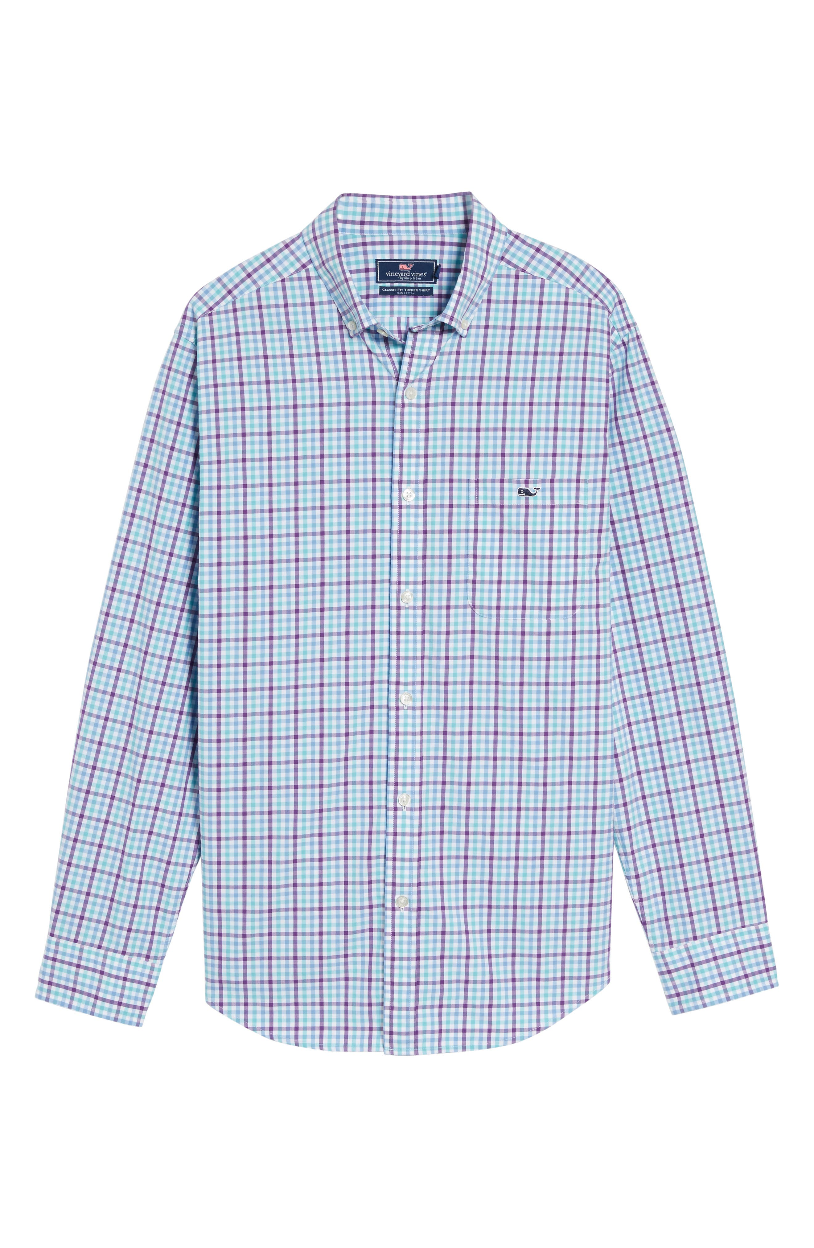 Alternate Image 6  - vineyard vines Tucker Classic Fit Gingham Sport Shirt