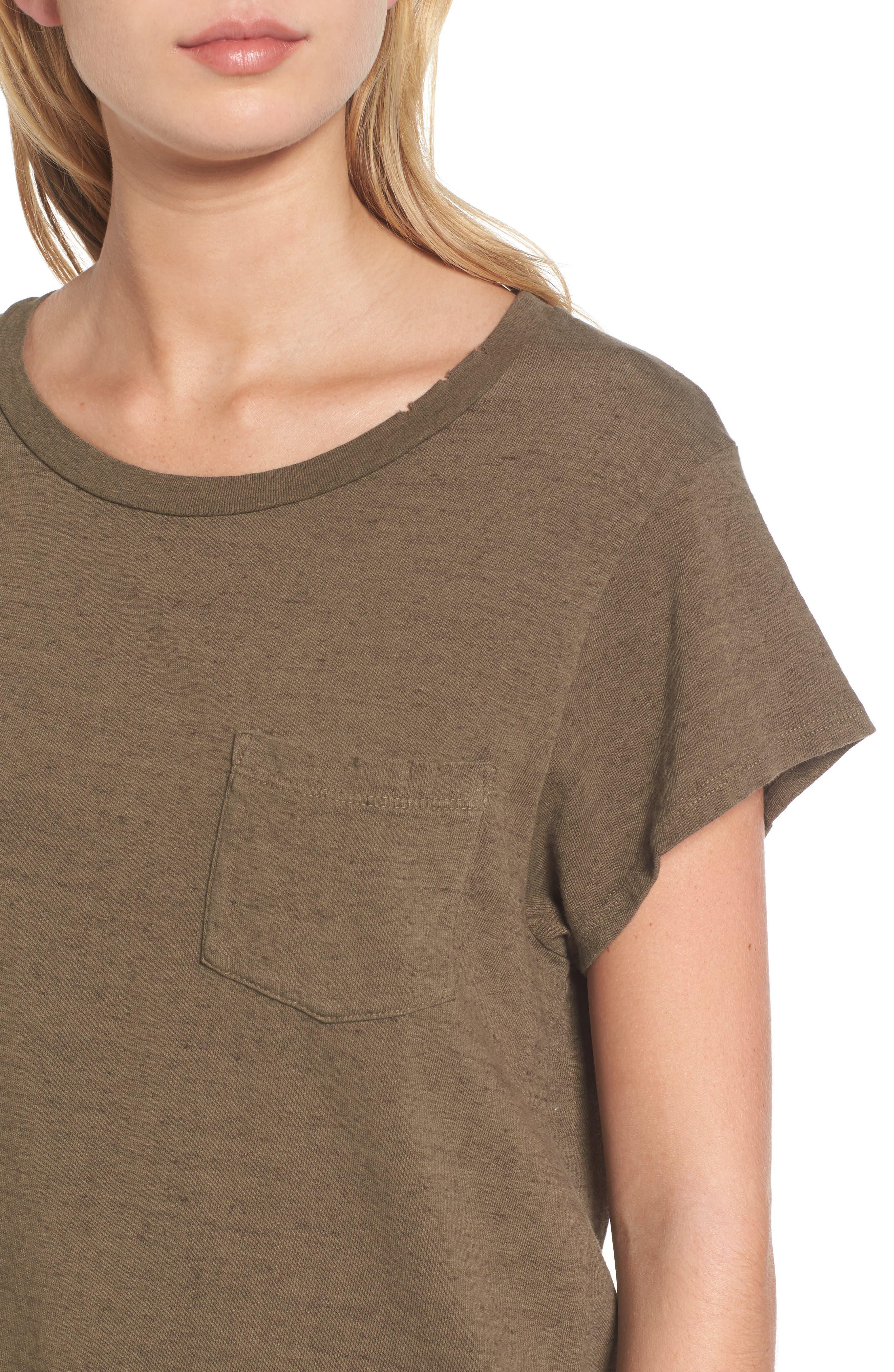 Alternate Image 4  - James Perse Vintage Sweatshirt Tee