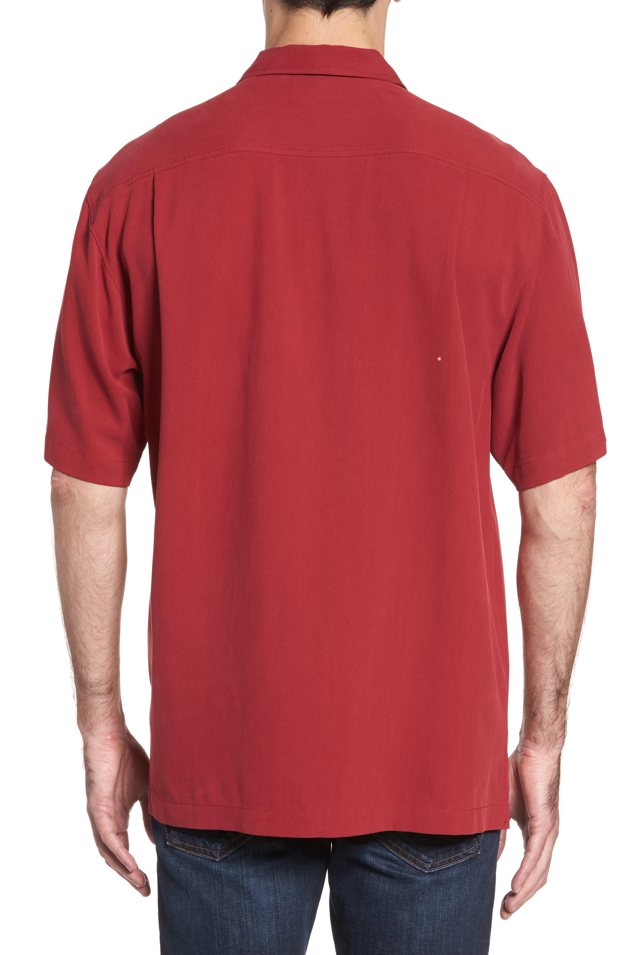 Alternate Image 2  - Tommy Bahama Catalina Twill Short Sleeve Silk Camp Shirt