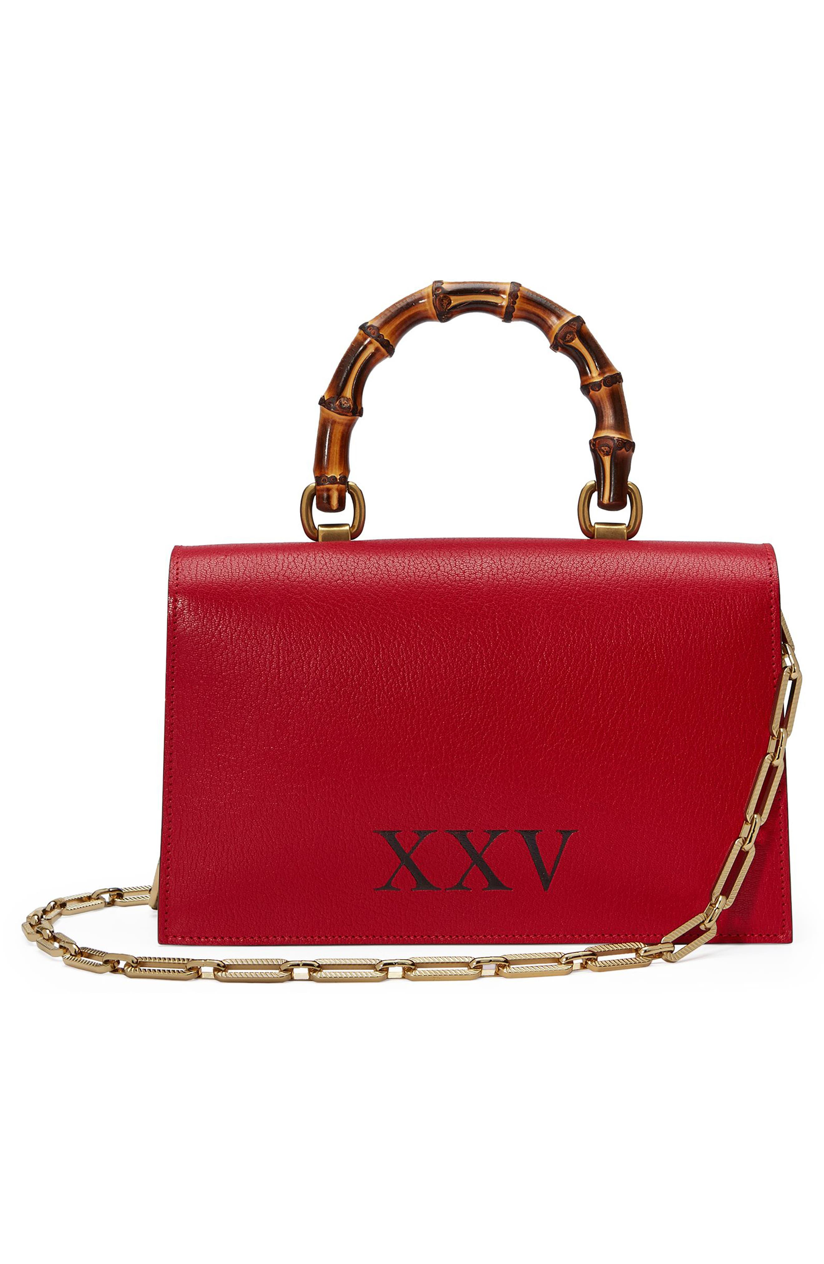 Small Linea P Painted Insects Leather Top Handle Satchel,                             Alternate thumbnail 2, color,                             Rosso
