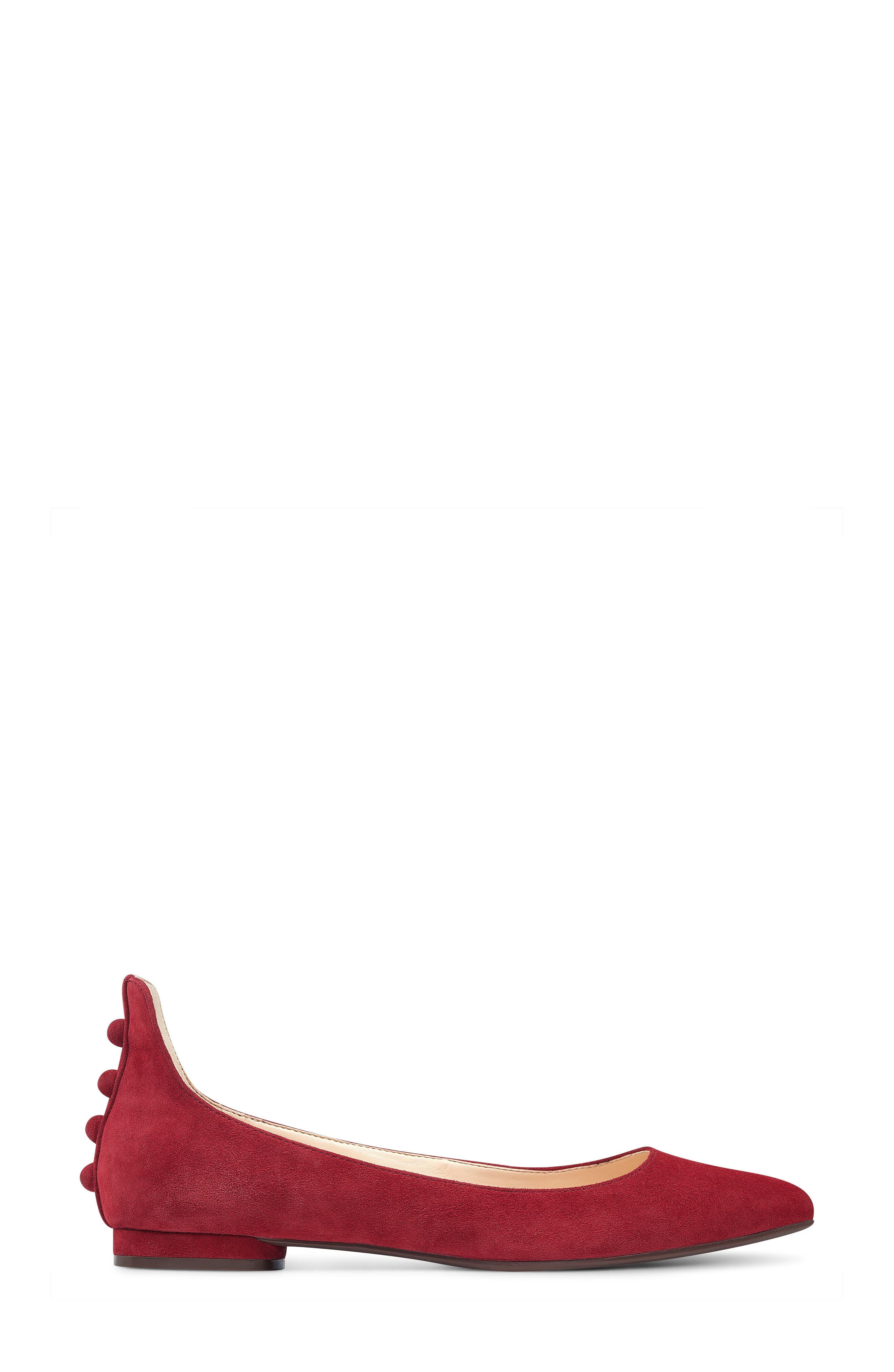 Owl Skimmer Flat,                             Alternate thumbnail 3, color,                             Red Suede