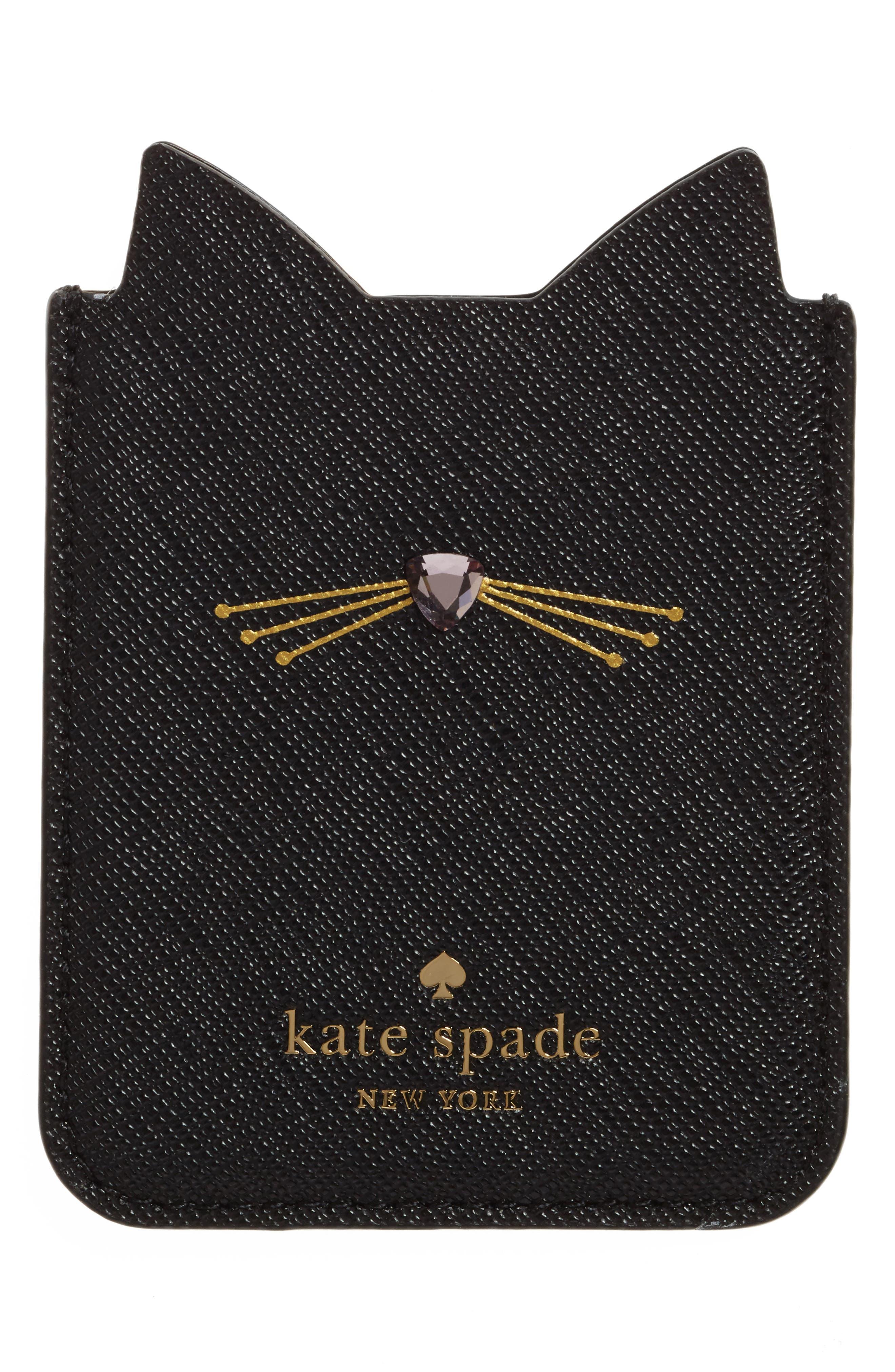 Alternate Image 2  - kate spade new york cat iPhone 7/8 sticker pocket