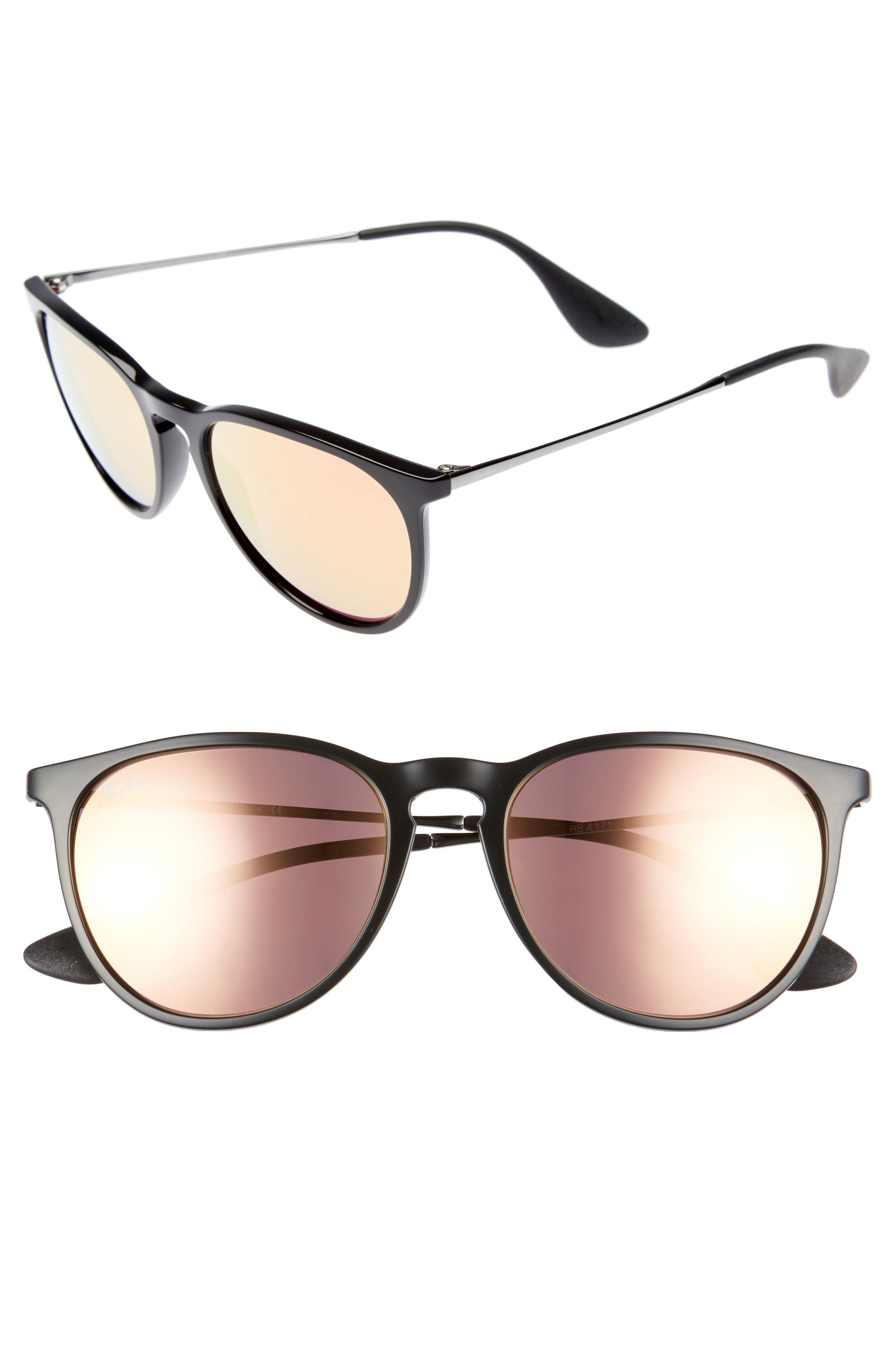 Main Image - Ray-Ban Erika 54mm Mirrored Sunglasses (Nordstrom Exclusive)