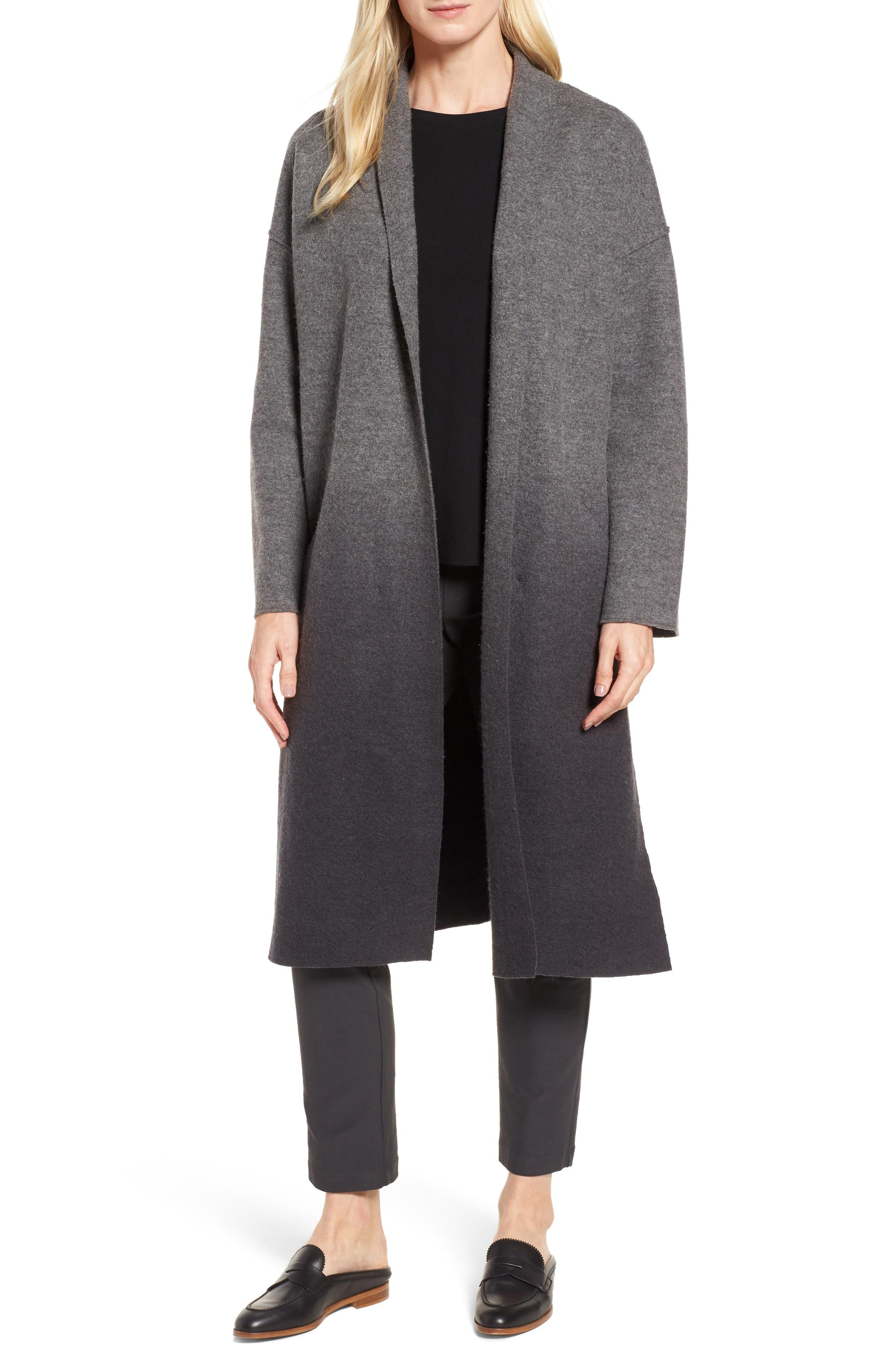 Eileen Fisher Ombré Kimono Coat (Regular & Petite)