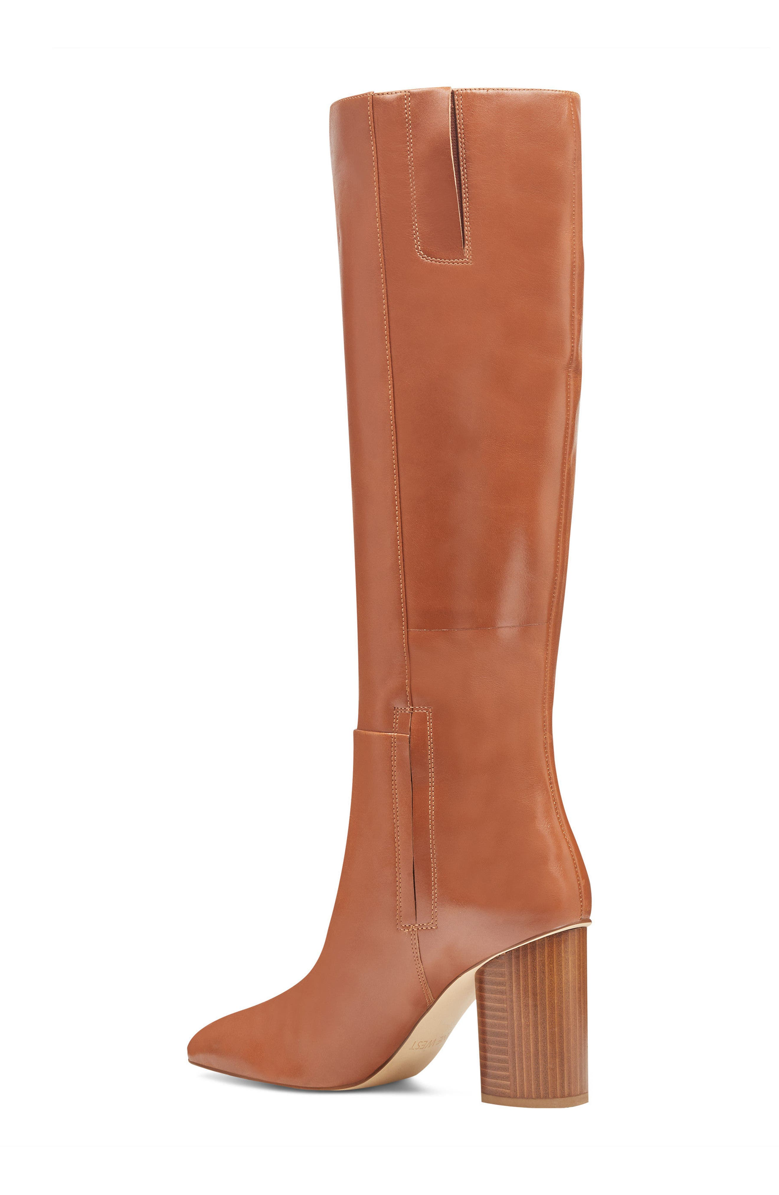 Christie Knee High Boot,                             Alternate thumbnail 2, color,                             Dark Natural Leather