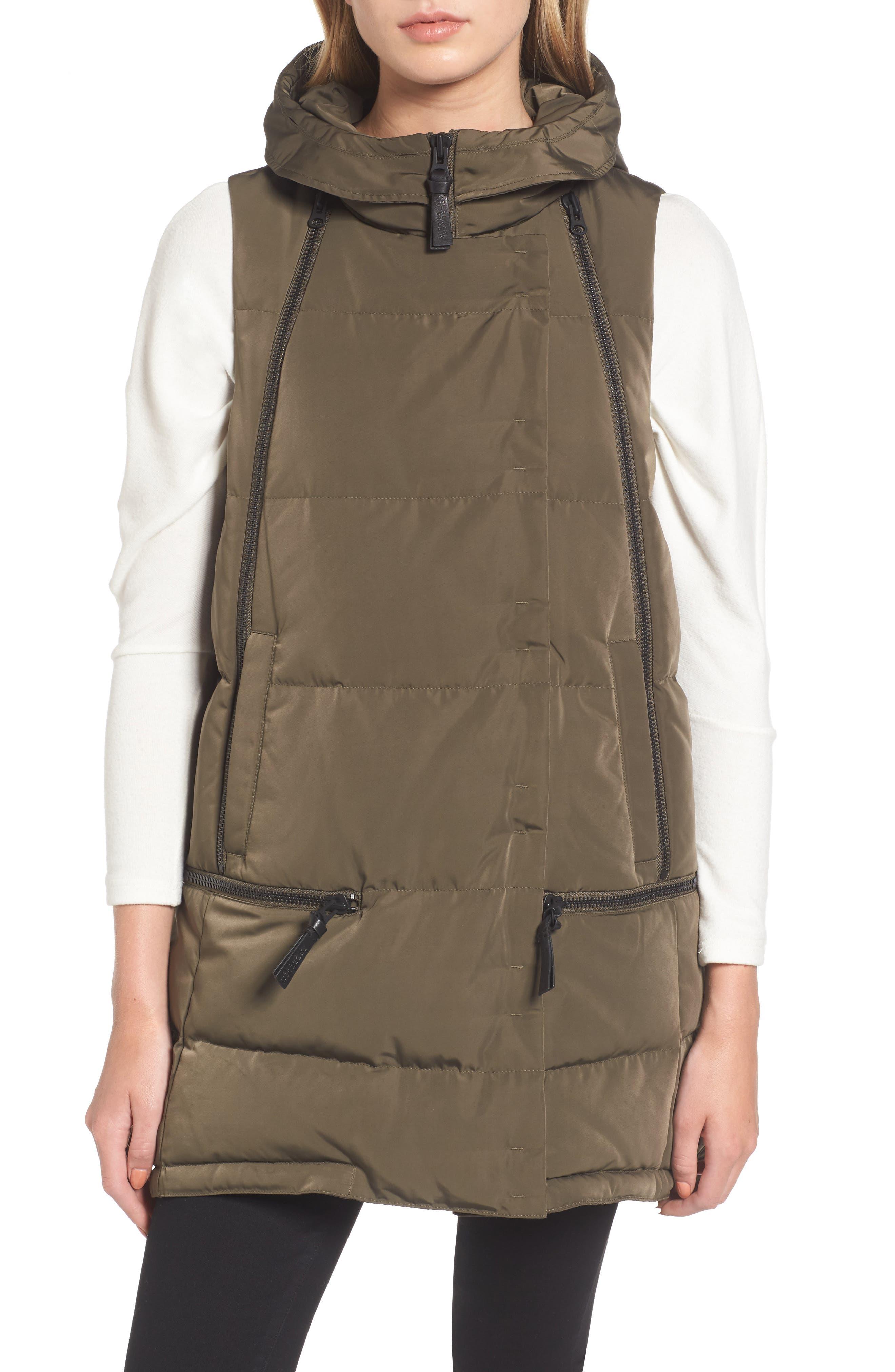 Alternate Image 4  - Derek Lam 10 Crosby Vest with Genuine Fox Fur