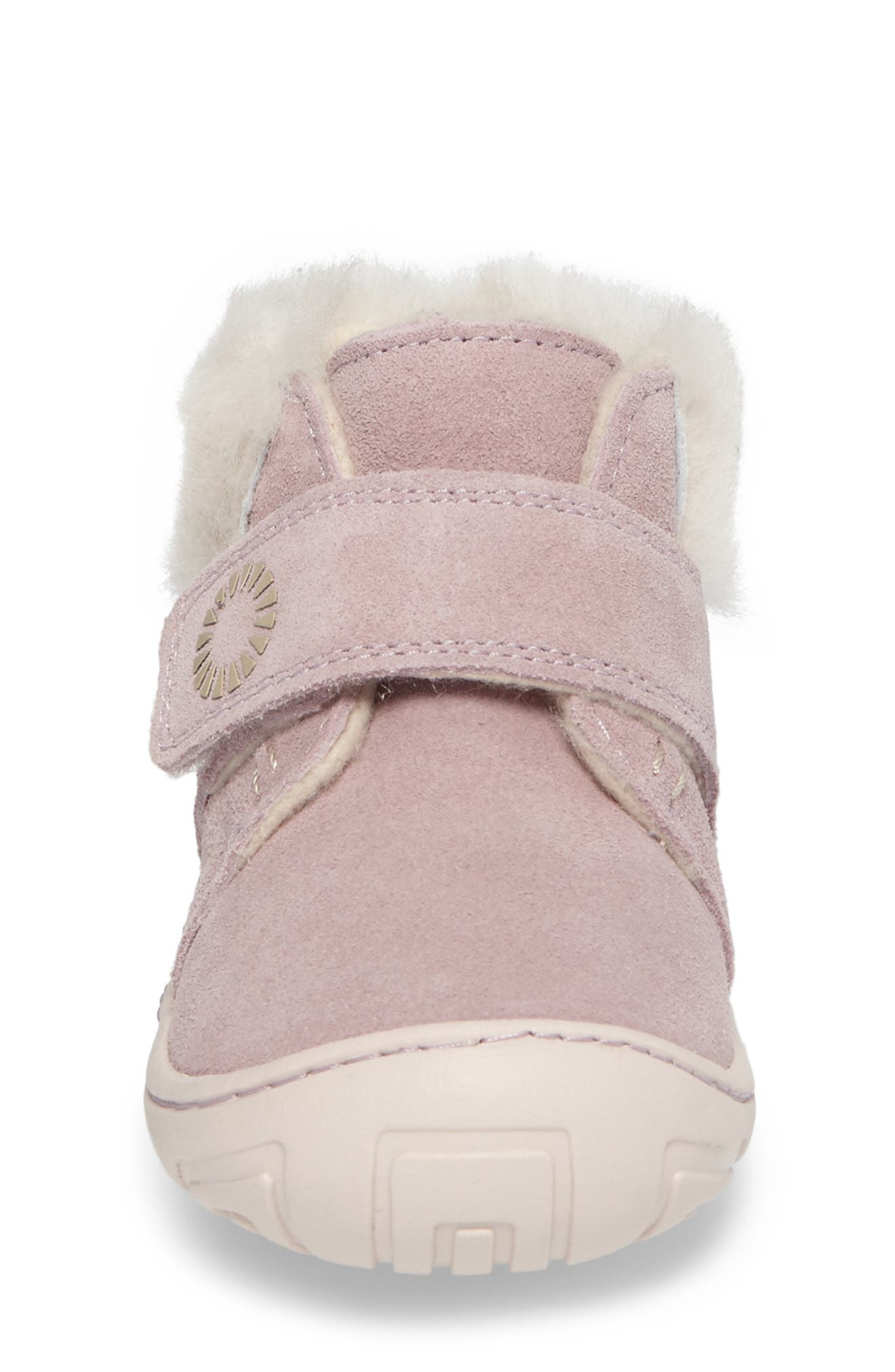 Alternate Image 4  - UGG® Jorgen Genuine Shearling Bootie (Baby, Walker & Toddler)