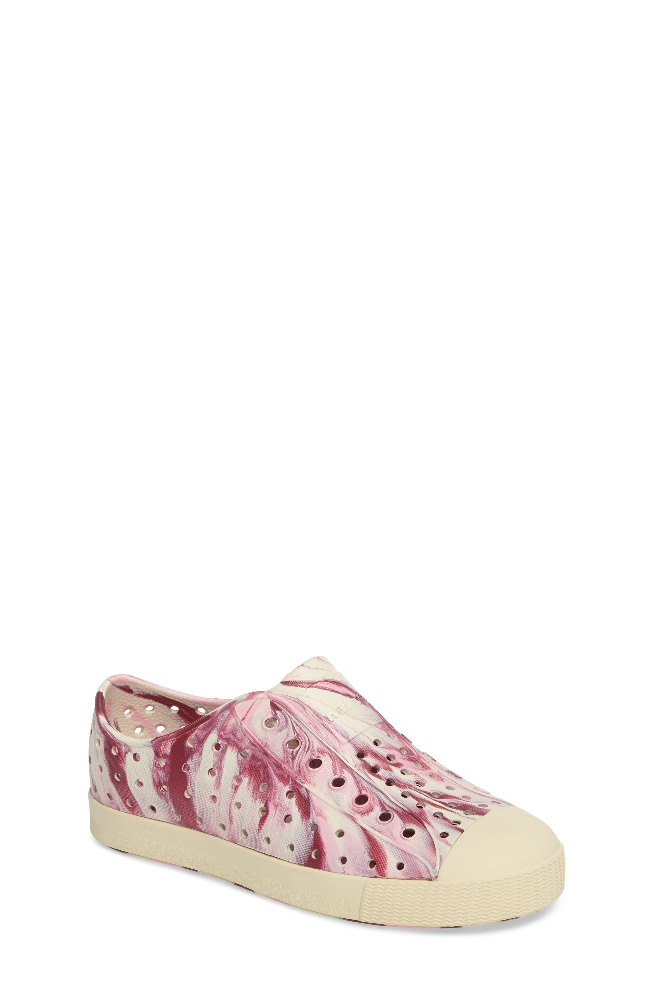 Main Image - Native Shoes Jefferson - Marbled Perforated Slip-On (Walker, Toddler & Little Kid)