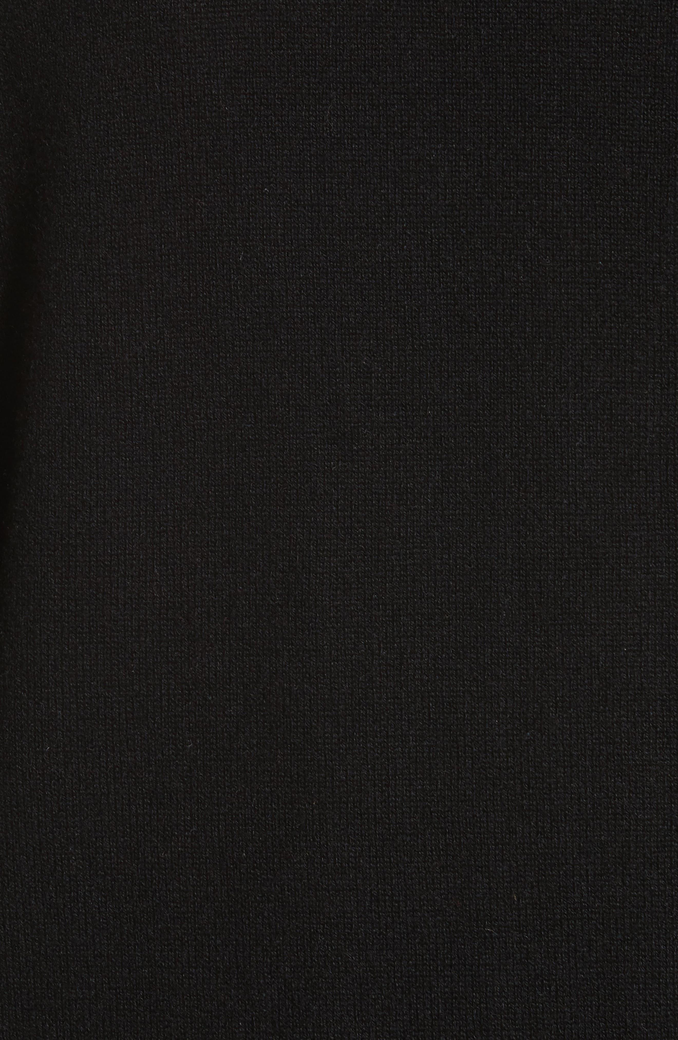 Natisone Cashmere Cardigan,                             Alternate thumbnail 5, color,                             Black