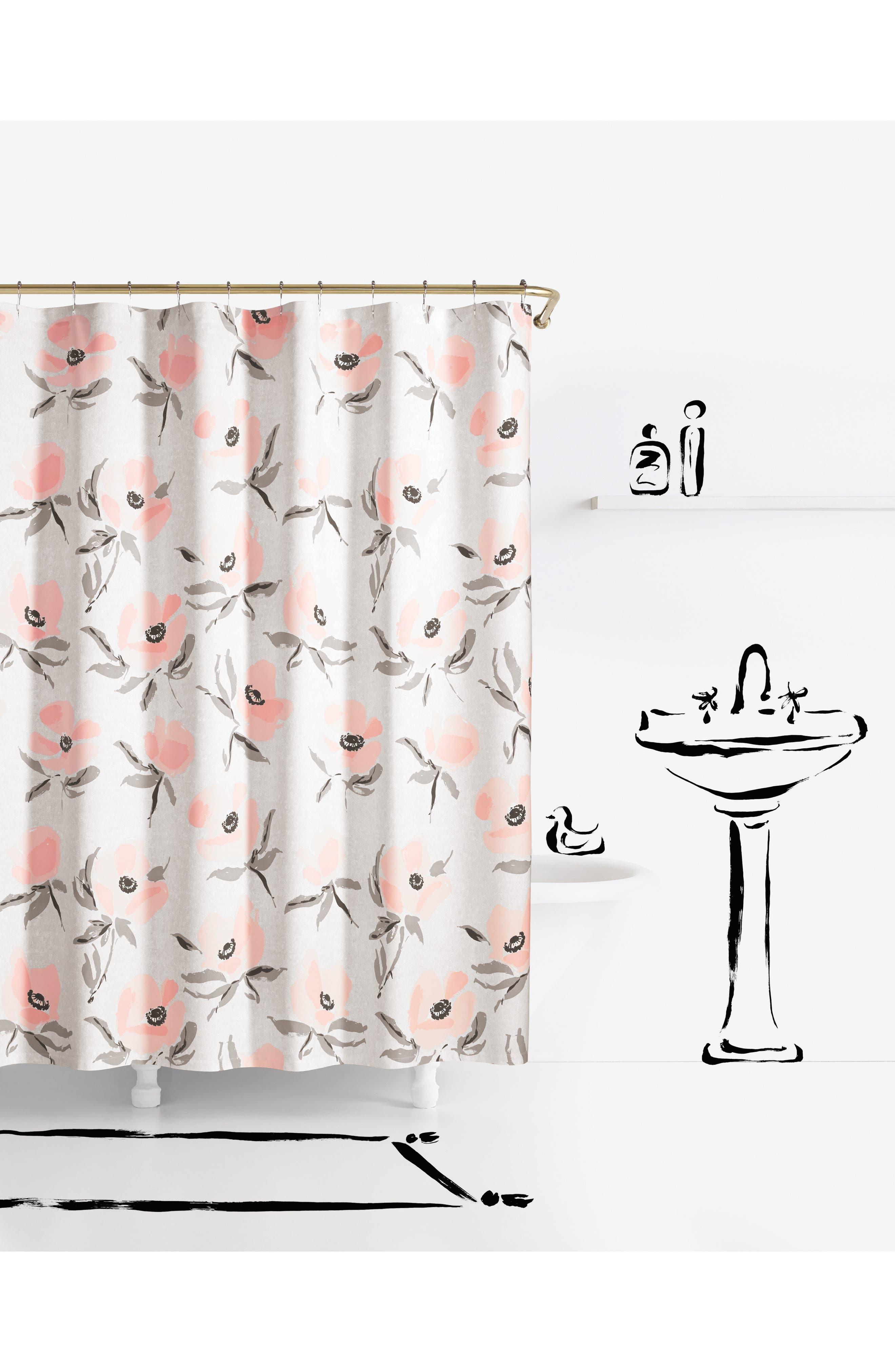 Elegant Kate Spade New York Poppies Shower Curtain