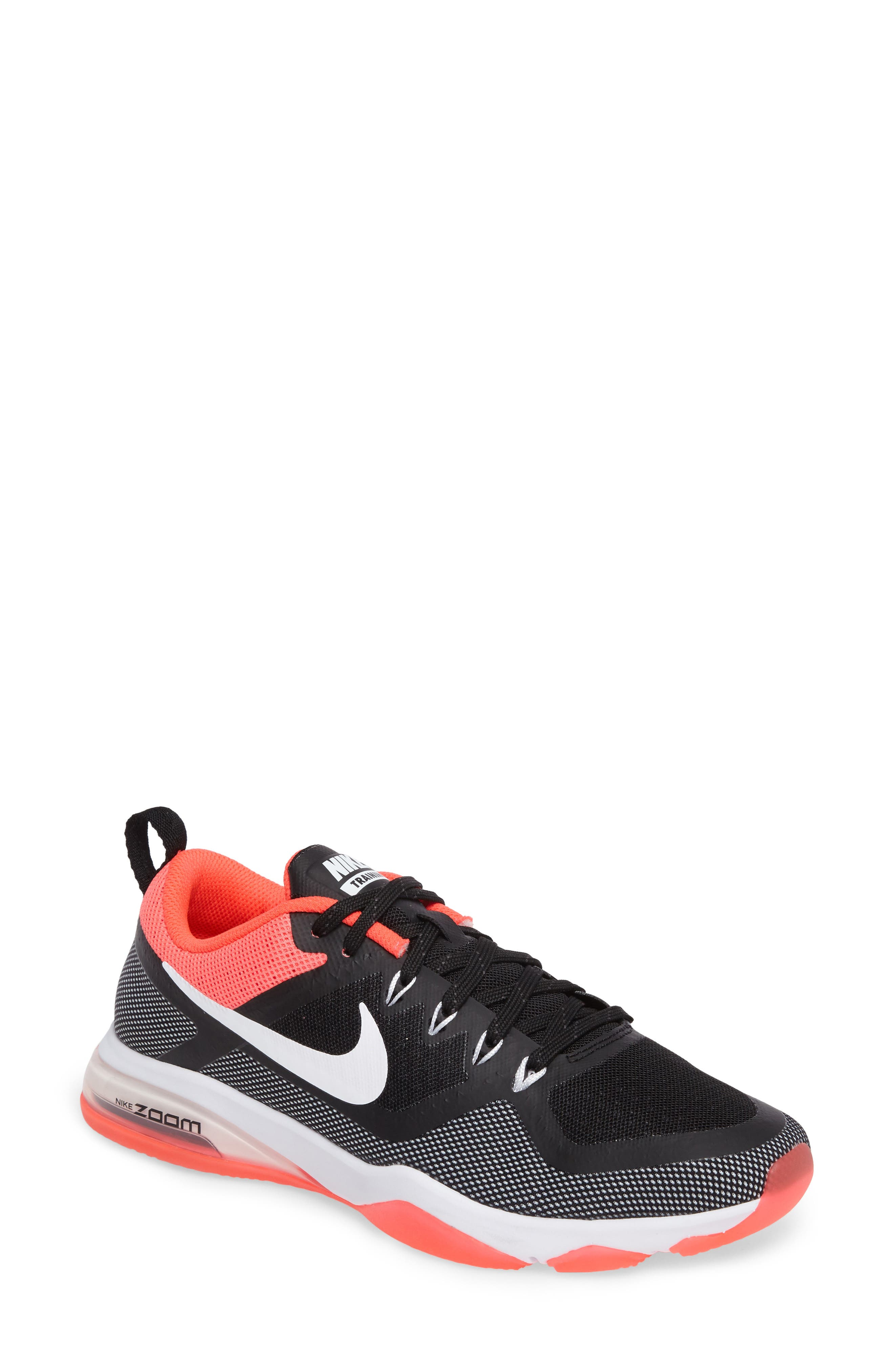 Air Zoom Fitness Training Shoe,                         Main,                         color, Black/ White/ Solar Red