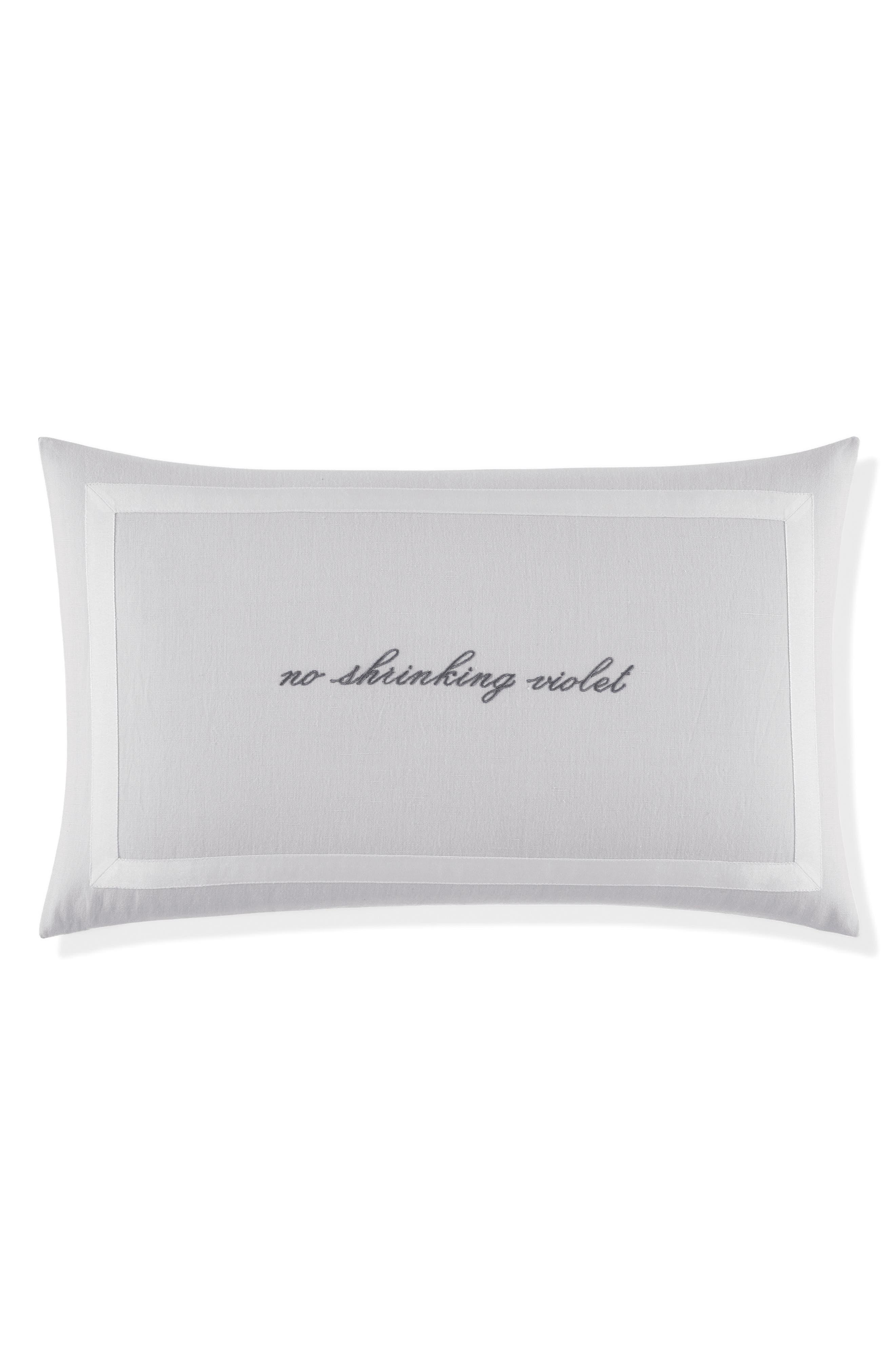 no shrinking violet pillow,                         Main,                         color, Platinum