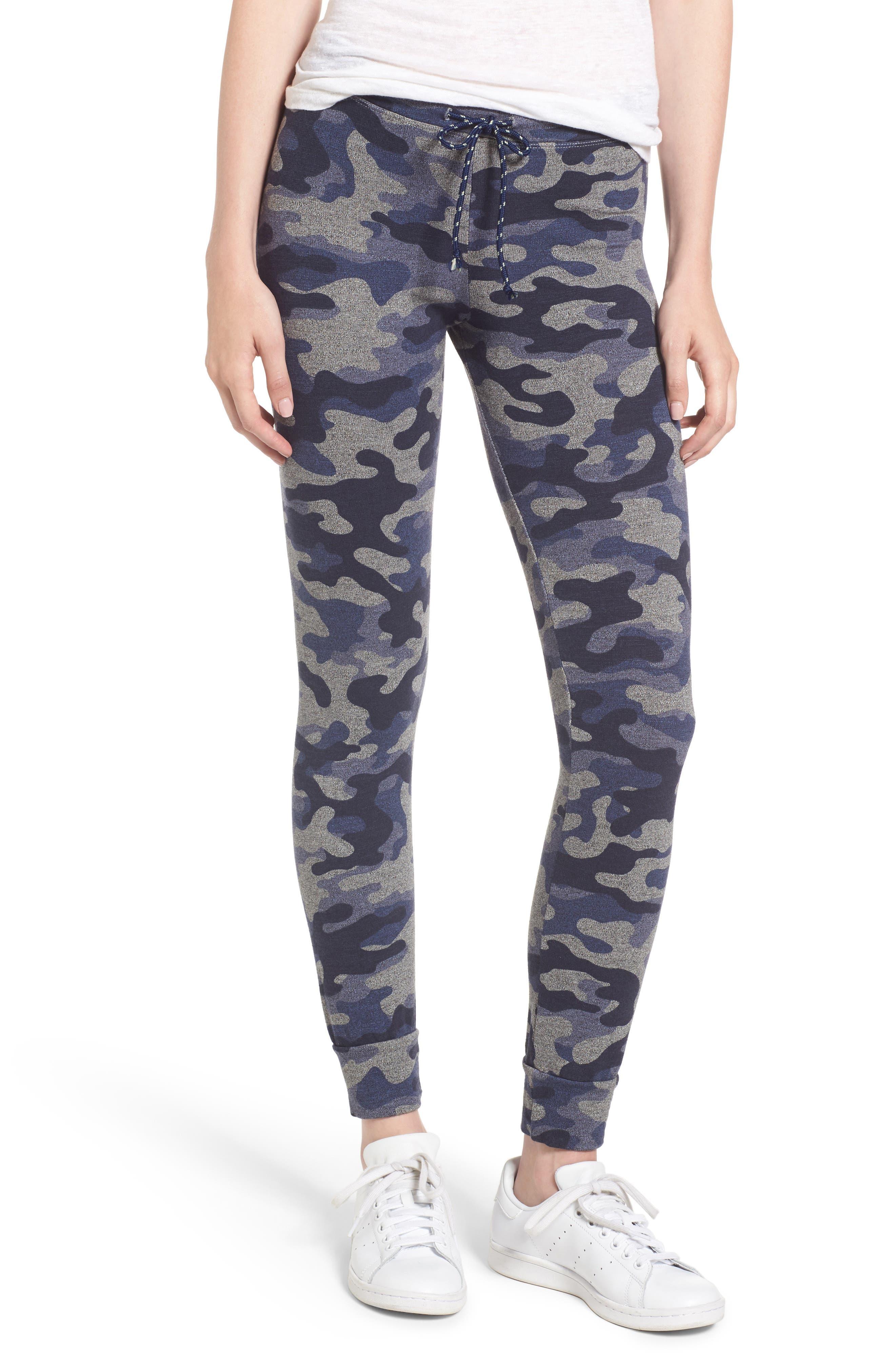 Alternate Image 1 Selected - Sundry Camo Skinny Sweatpants