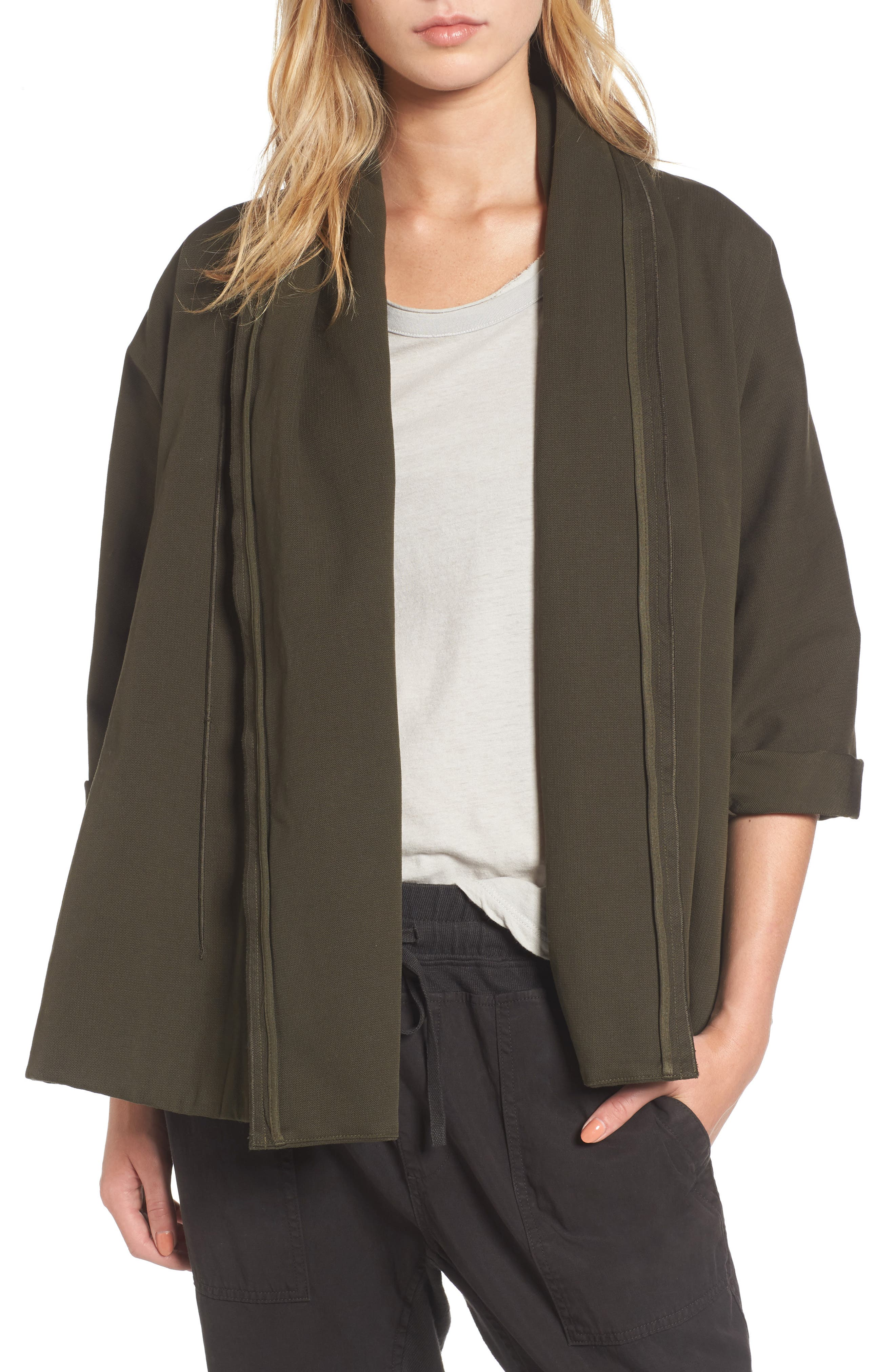 Blanket Kimono Jacket,                             Main thumbnail 1, color,                             Smoky Green
