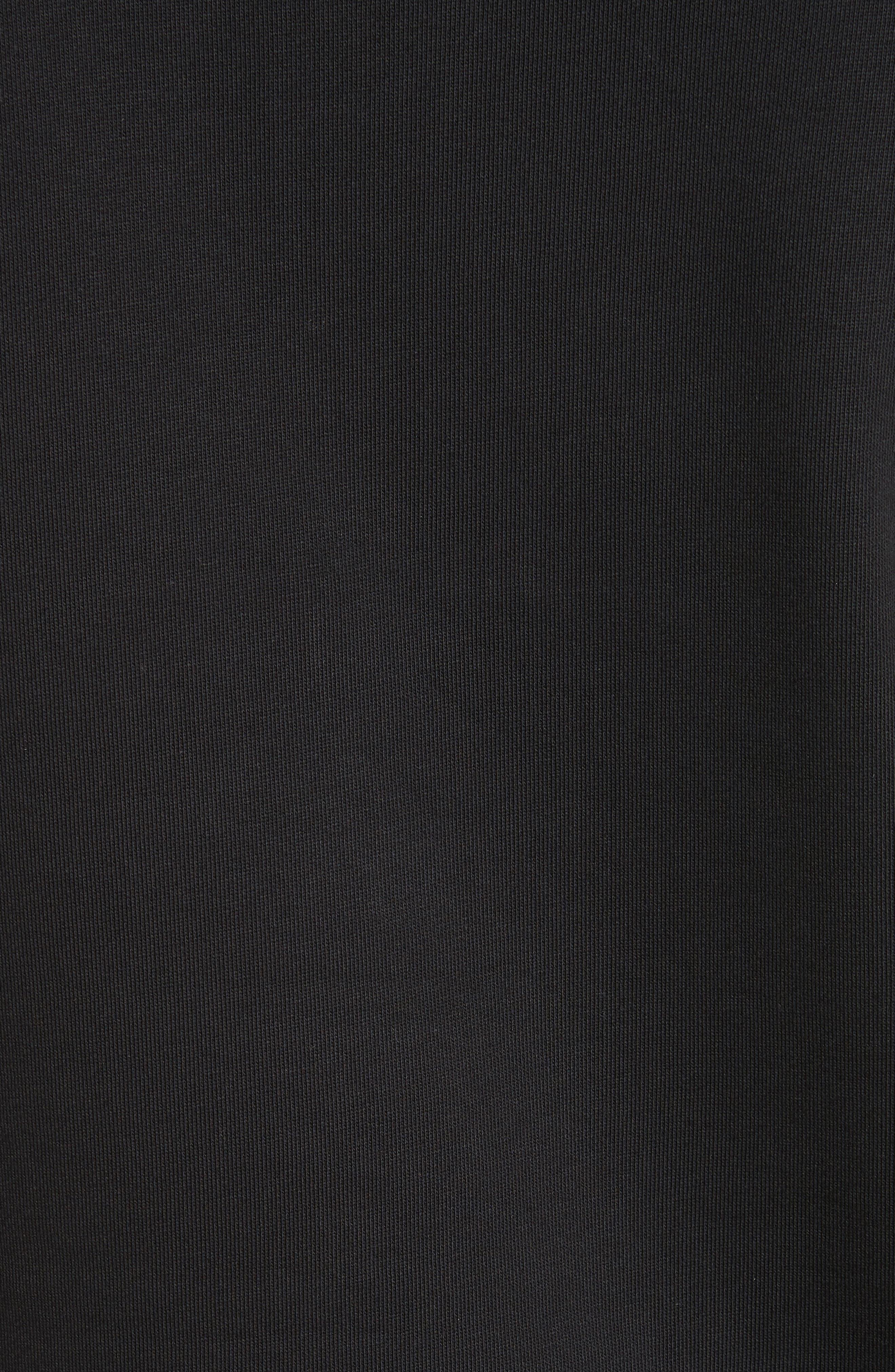 Maglia Crewneck Sweatshirt,                             Alternate thumbnail 5, color,                             Black