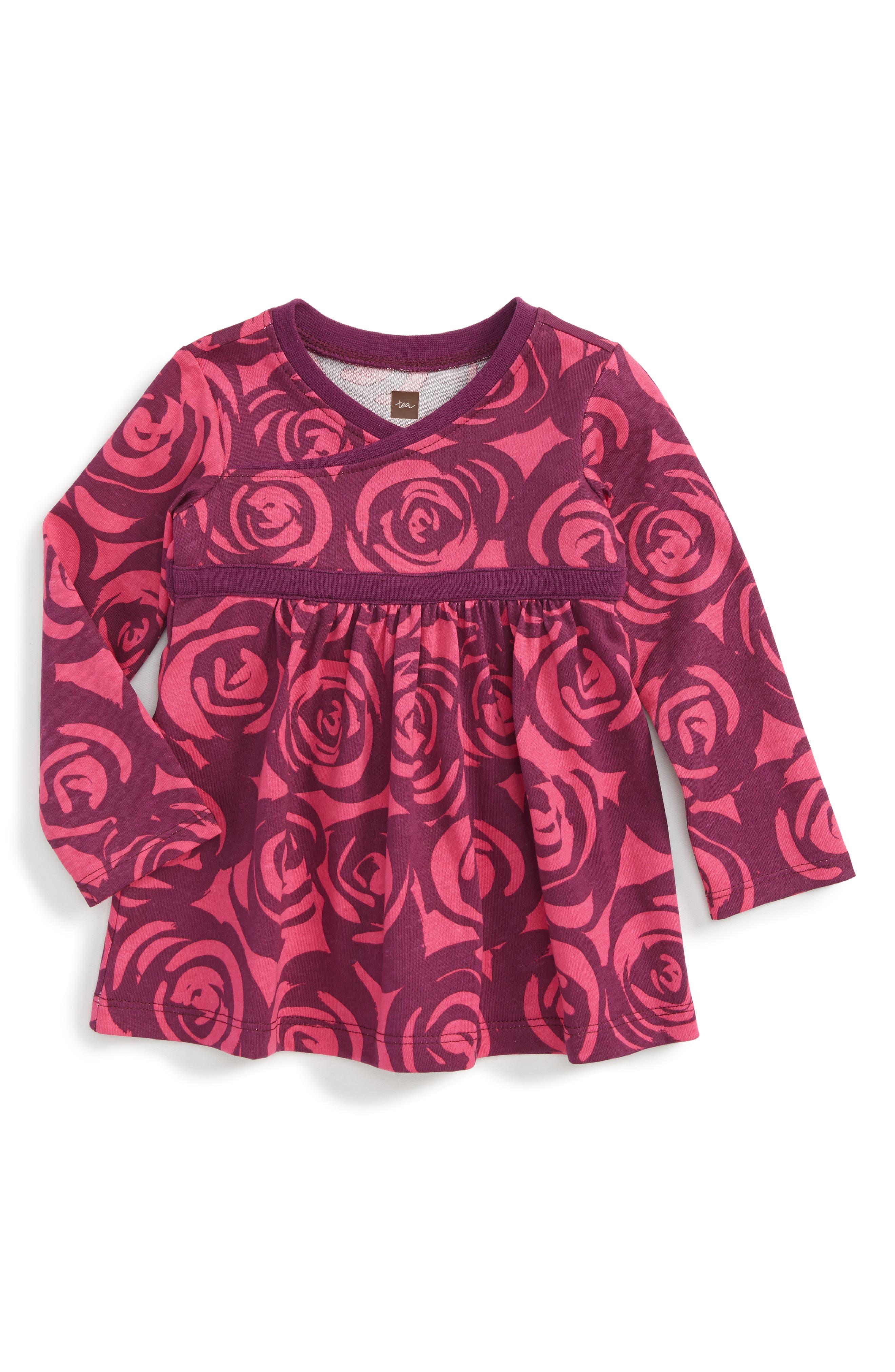 Tea Collection Rennie Rose Print Dress (Baby Girls)