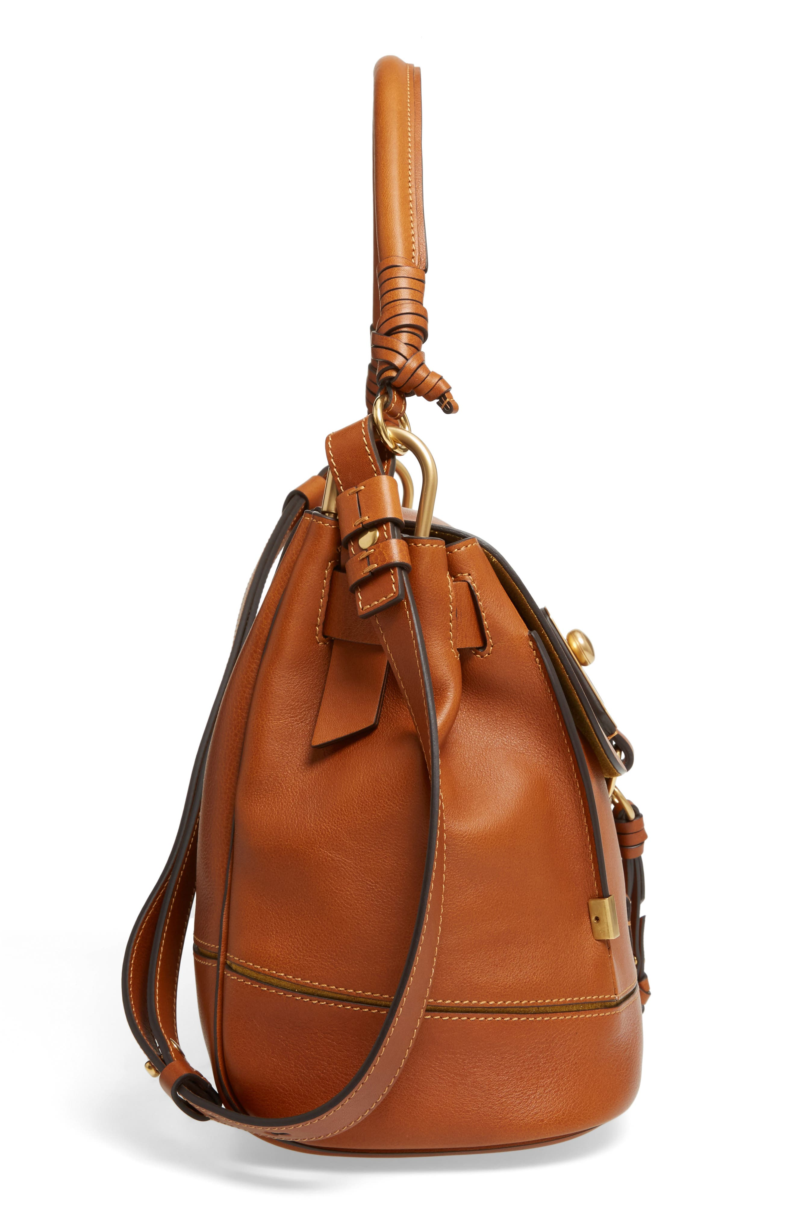 Alternate Image 4  - Chloé Medium Owen Calfskin Leather Satchel